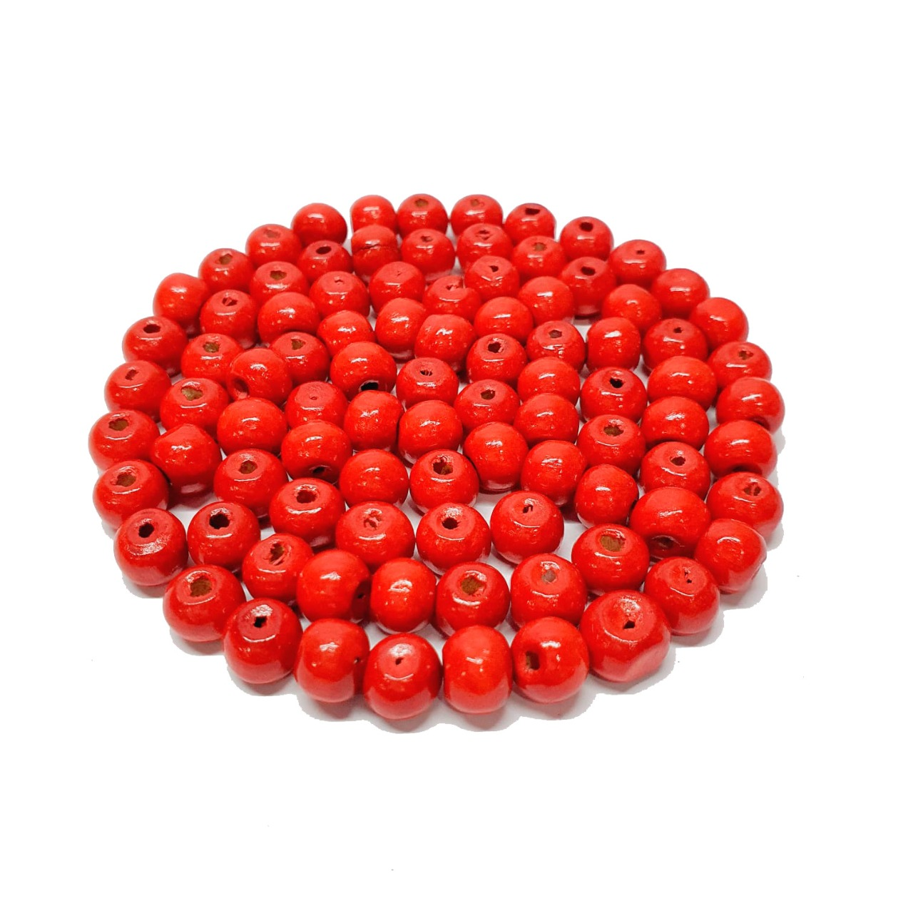 Bola de Madeira Vermelha