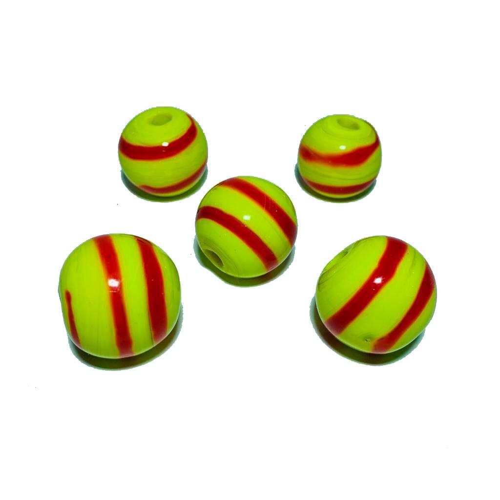 Bola de Murano GG Amarelo com Vermelho