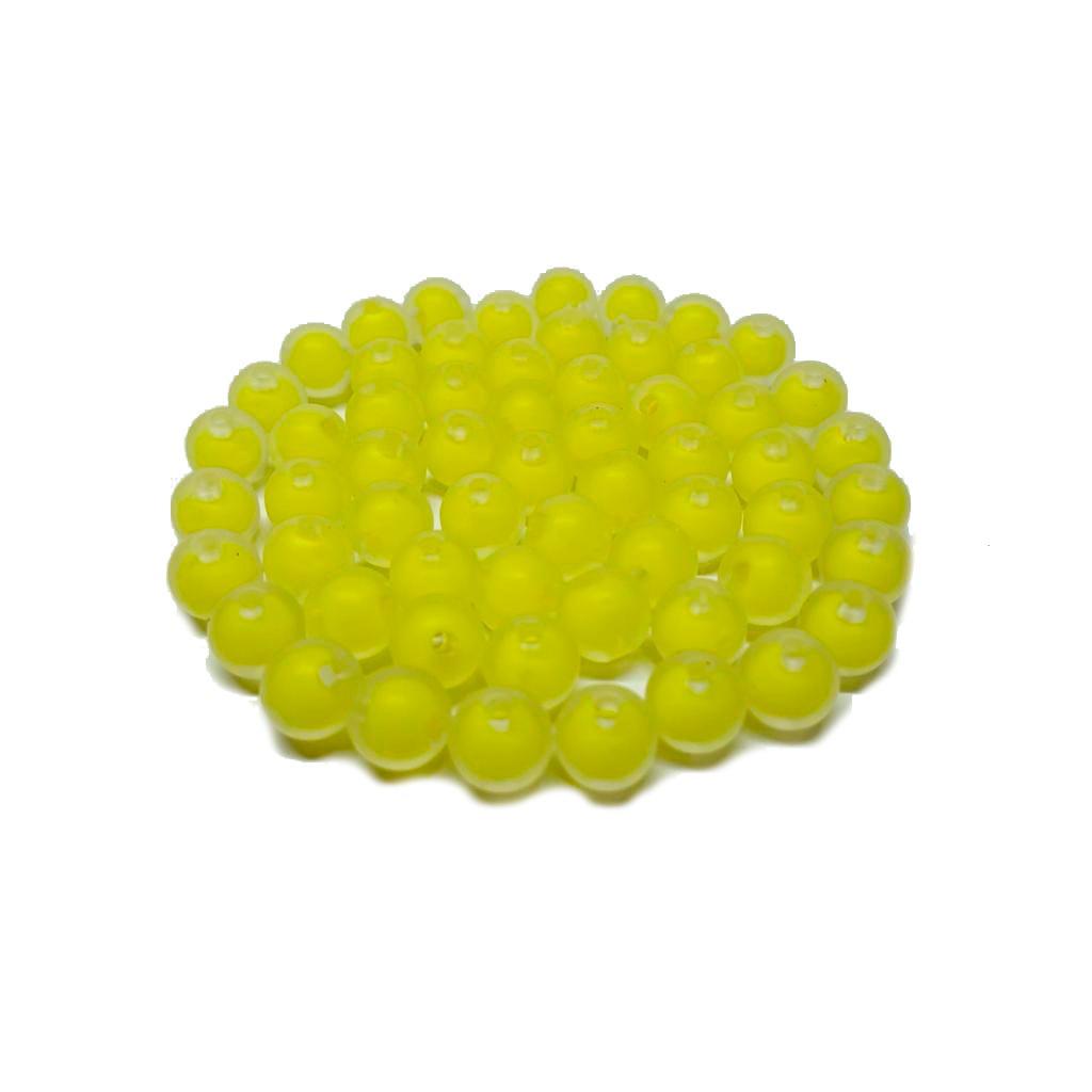 Bola de Plástico Fosca com Miolo Amarelo