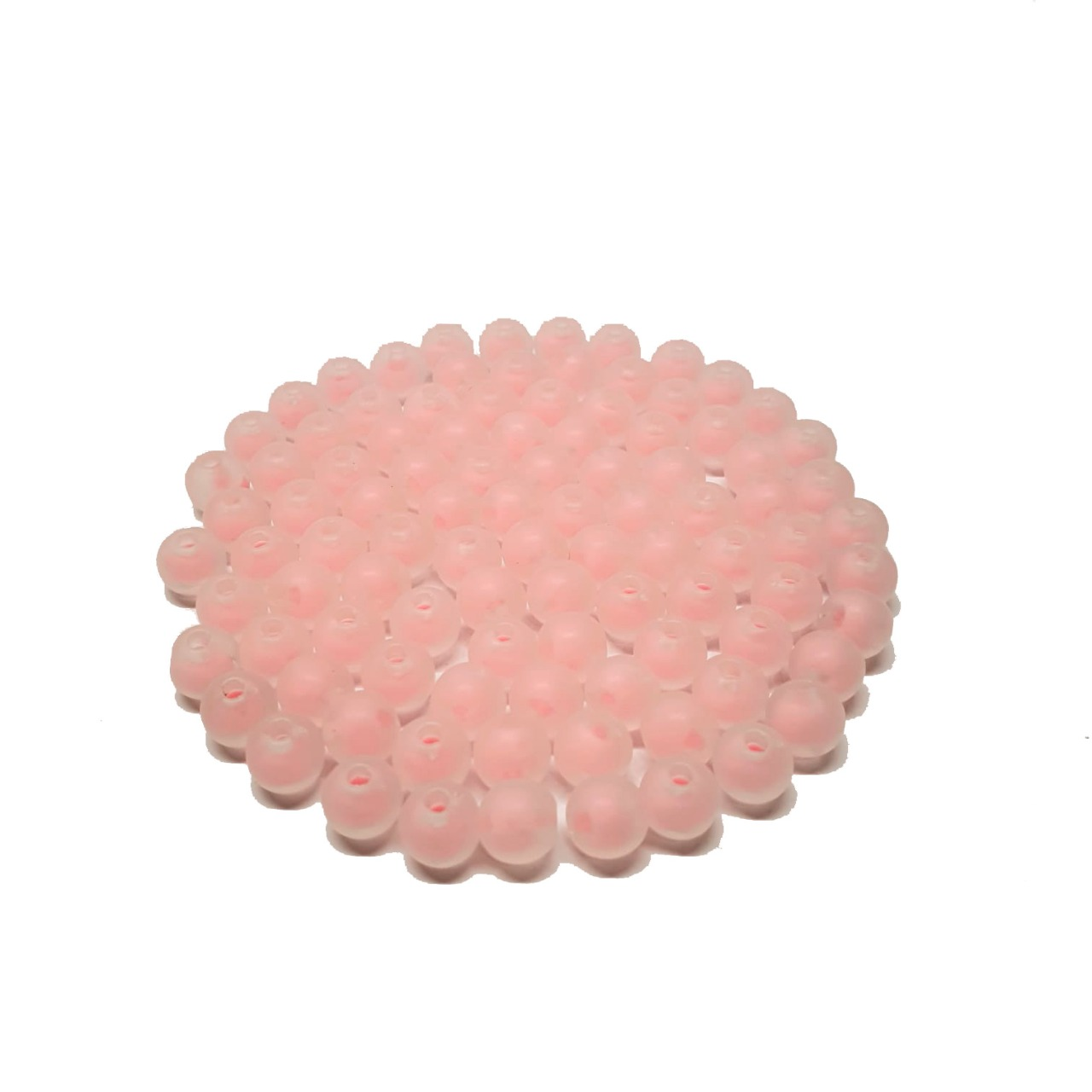 Bola de Plástico Fosca com Miolo Rosa