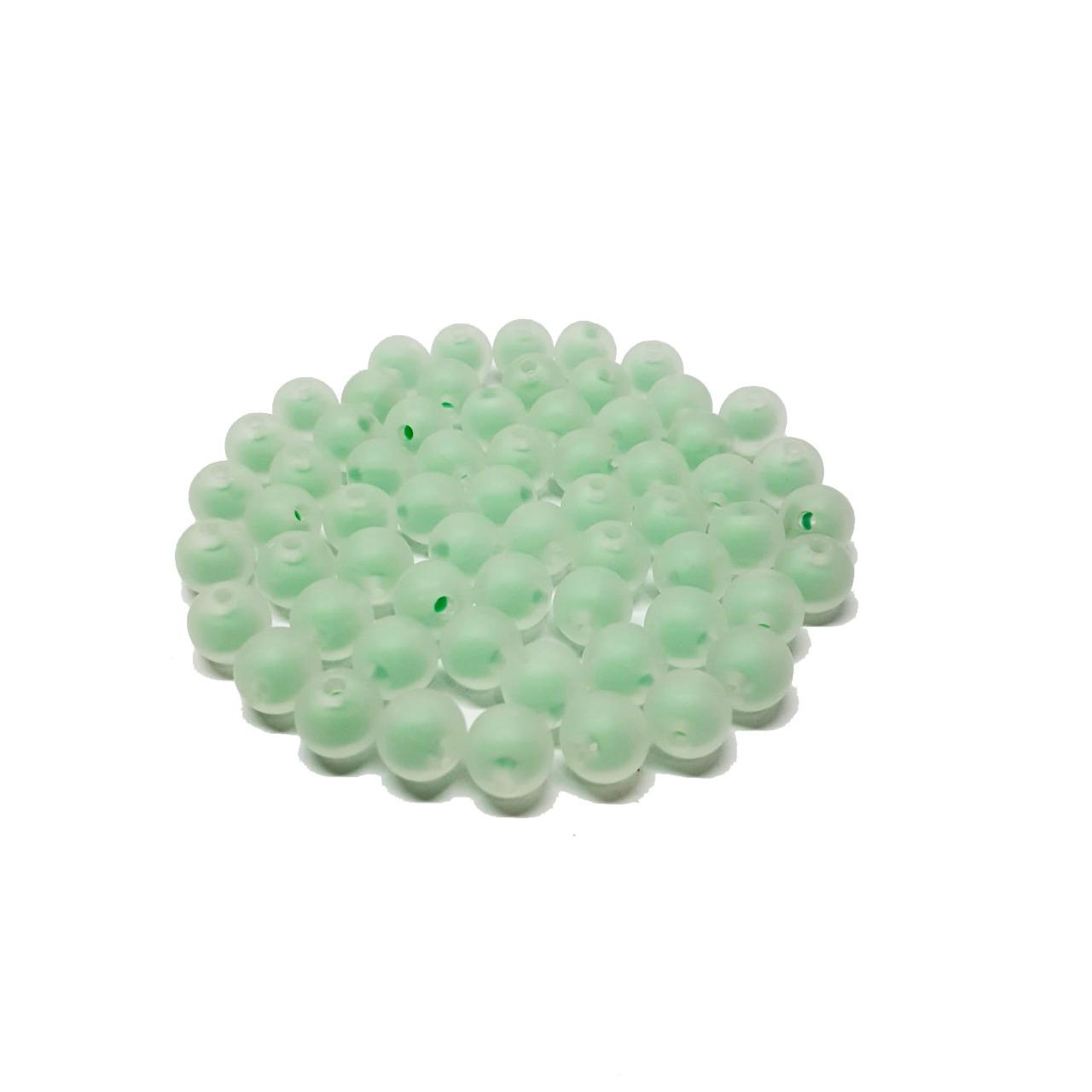 Bola de Plástico Fosca com Miolo Verde