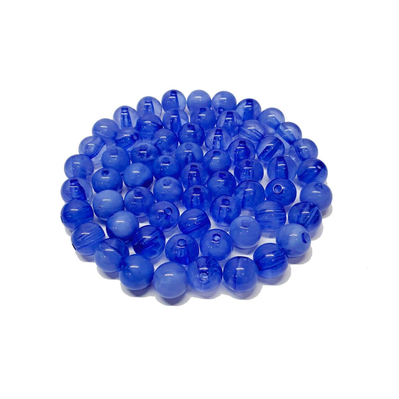 Bola de Resina Azul Royal Transparente