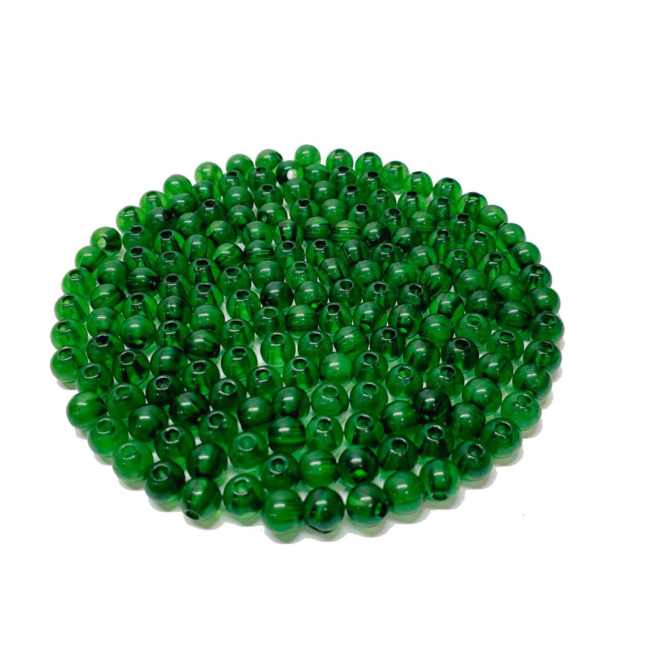 Bola de Resina Verde Escuro Transparente