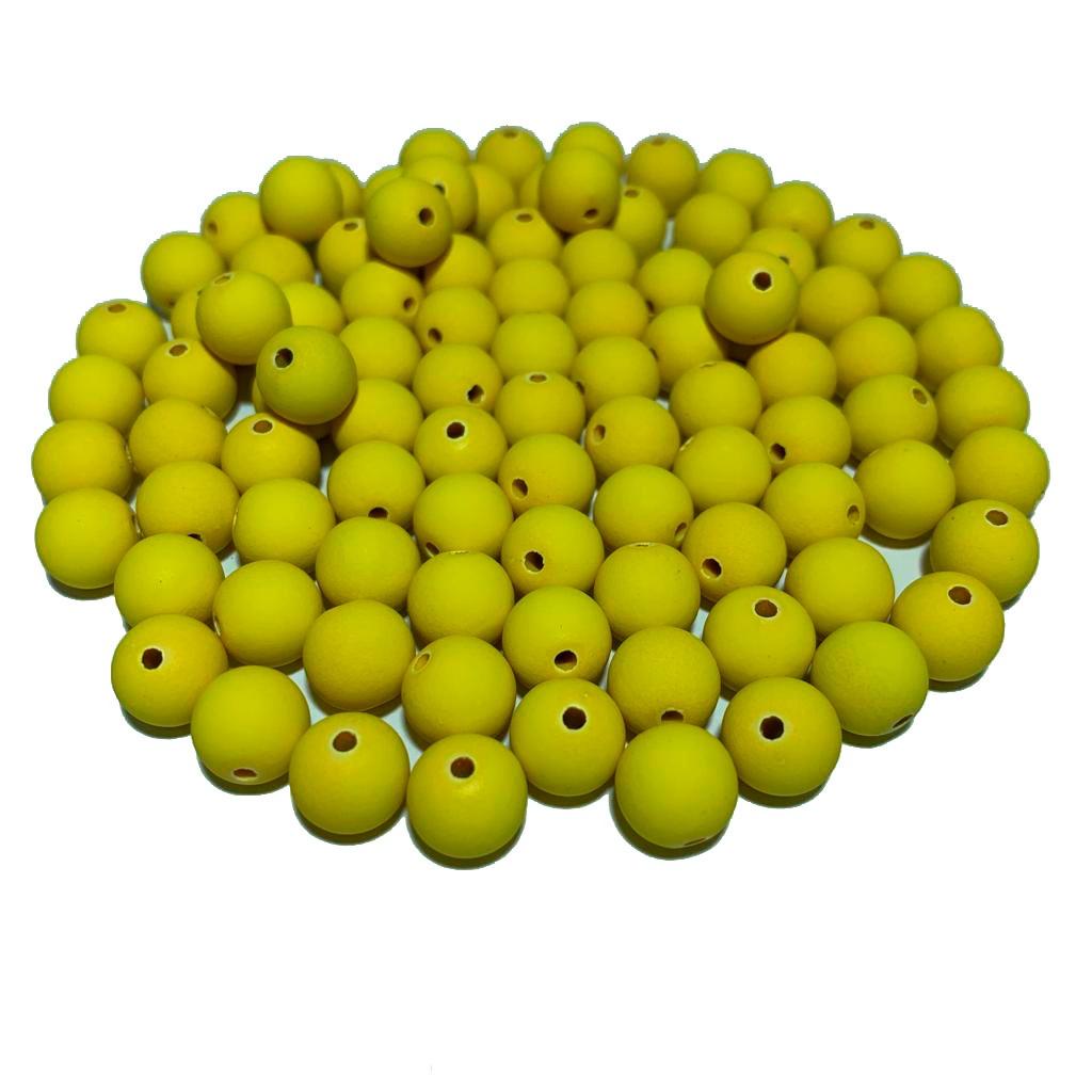 Bola Emborrachada Amarelo Gema 10 MM