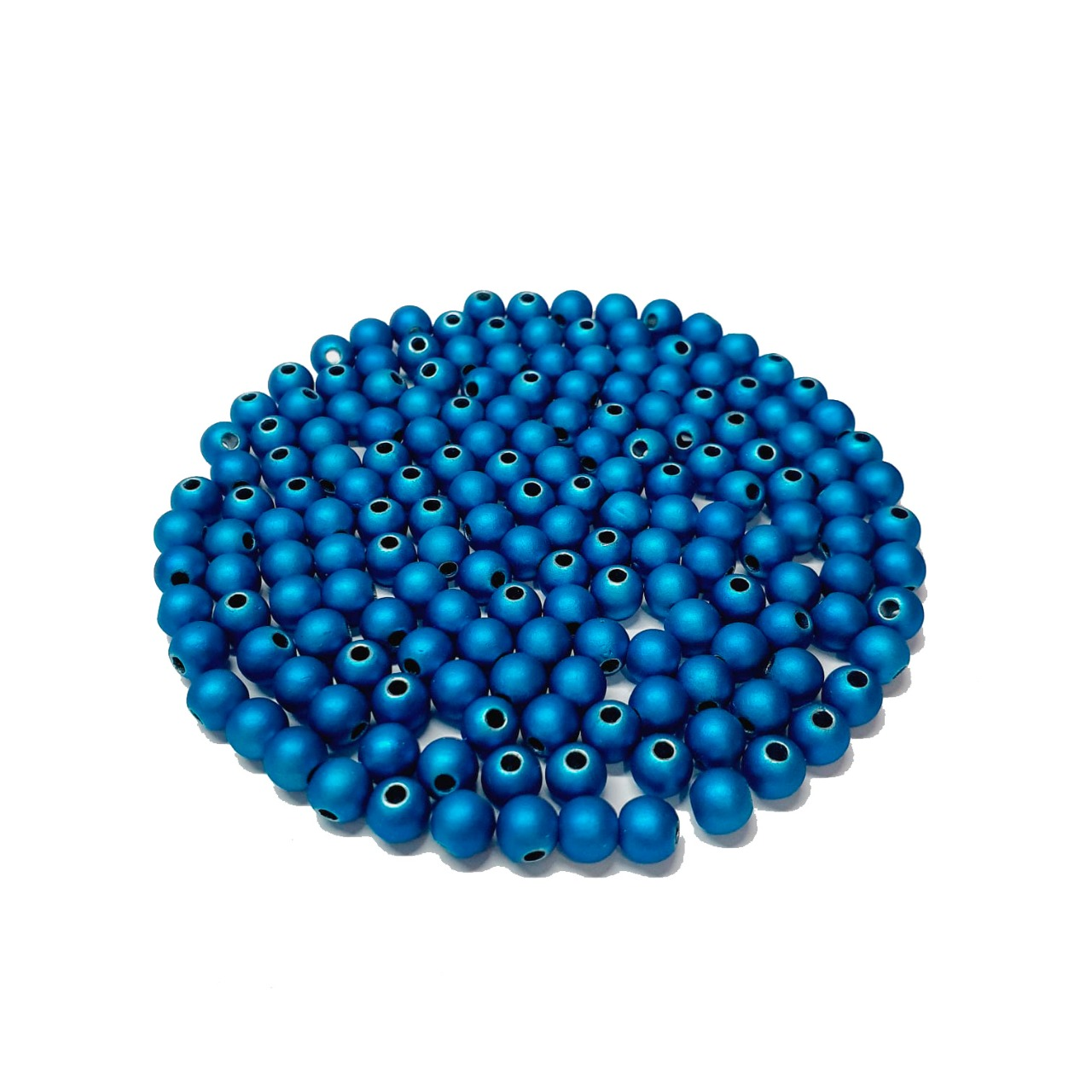 Bola Emborrachada Azul Metalizado