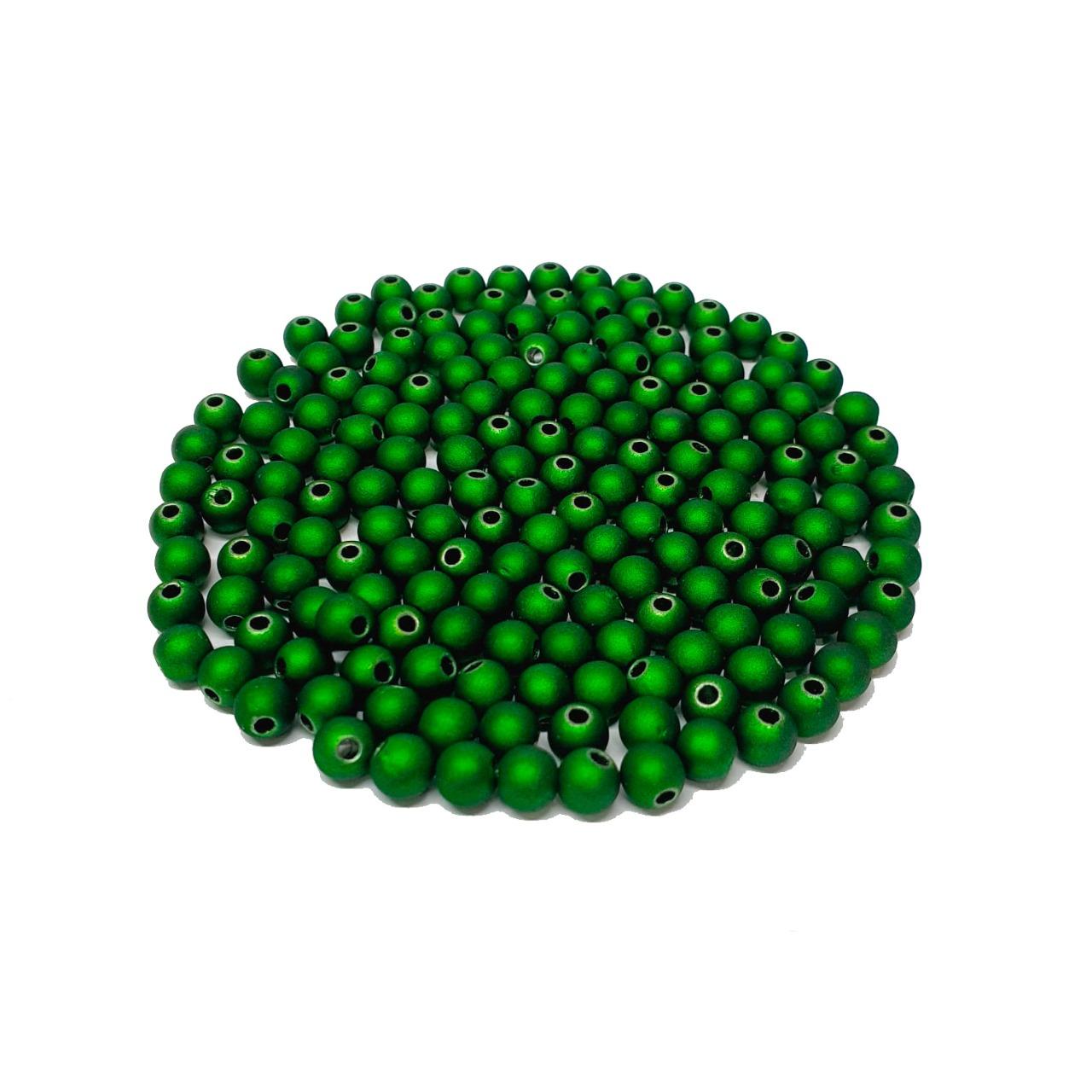 Bola Emborrachada Verde Claro Metalizado