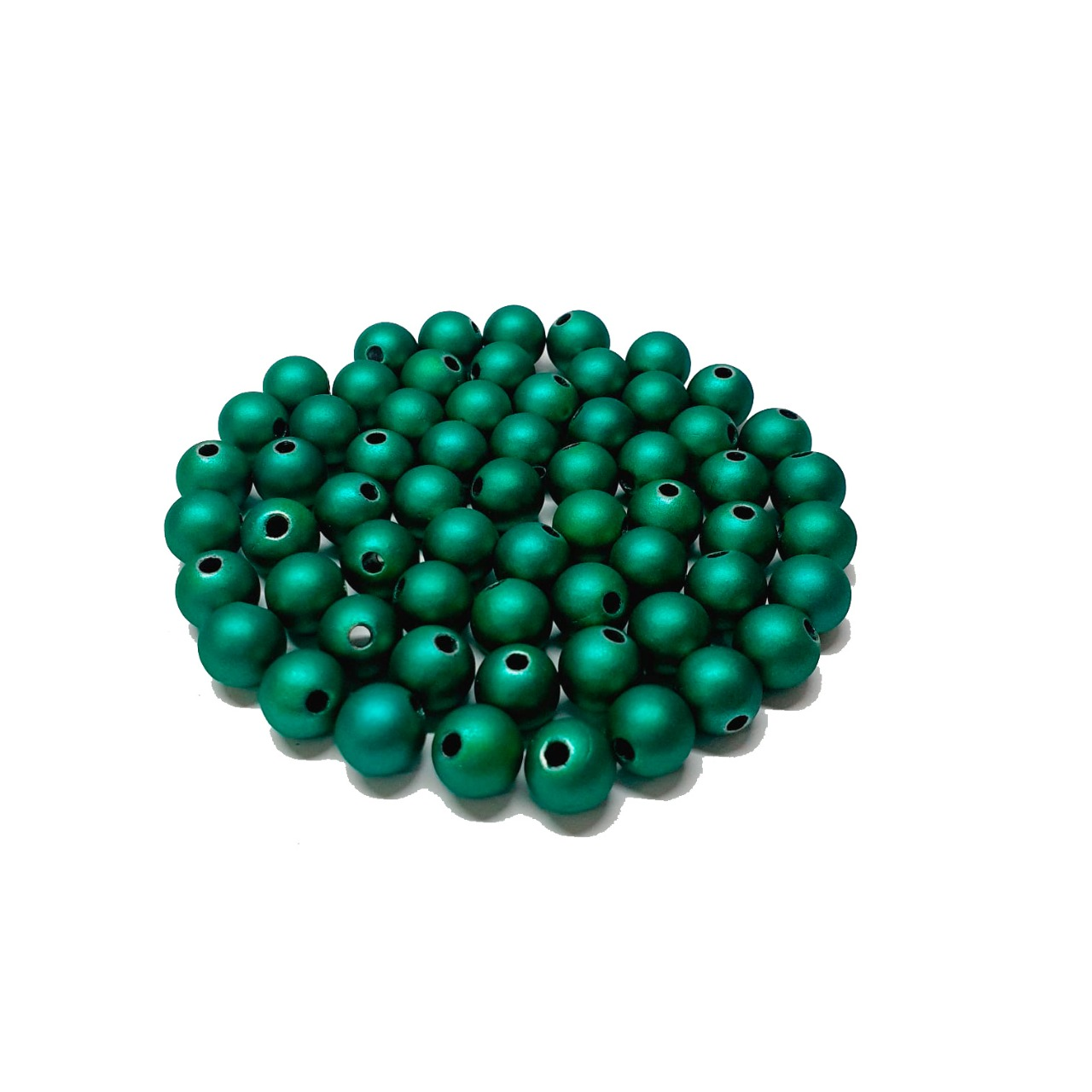 Bola Emborrachada Verde Metalizado
