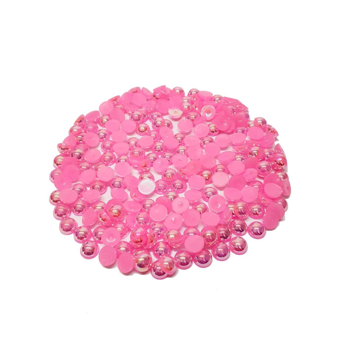 Chaton de Pérola Rosa Escuro Irisado