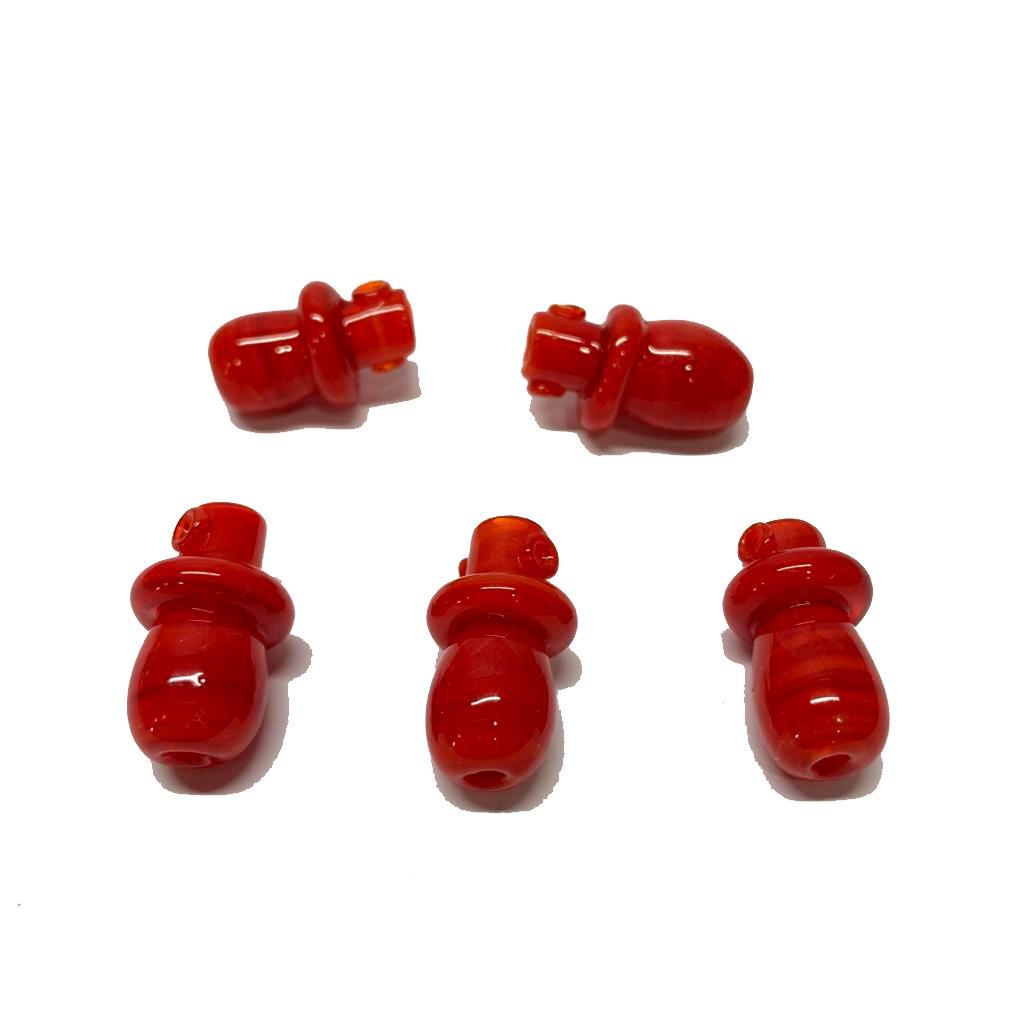 Chupeta de Murano Vermelha Leitosa
