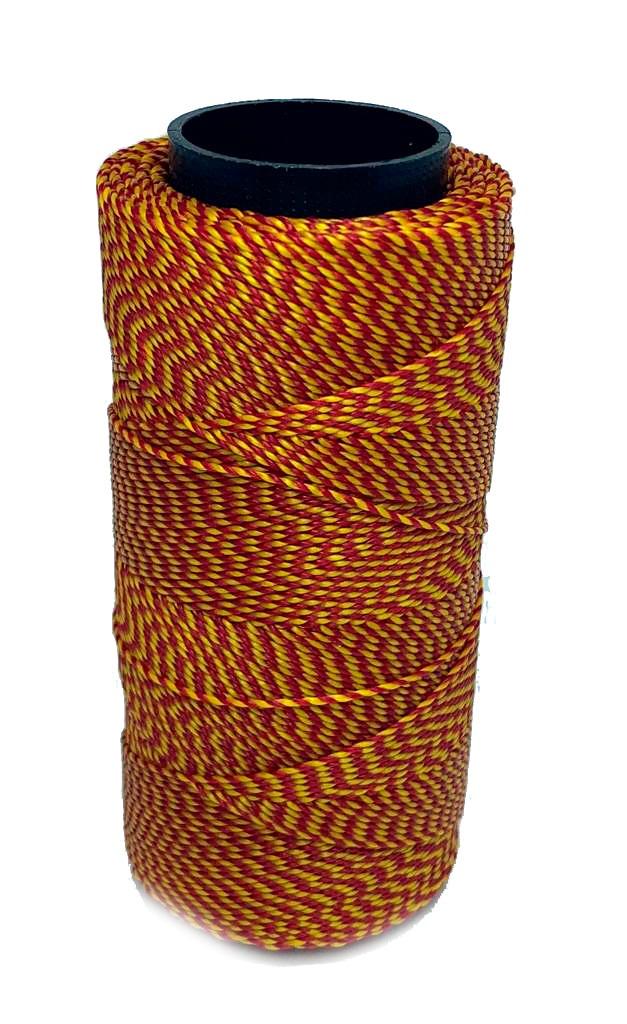 Cordonê Encerado Vermelho com Amarelo 0403
