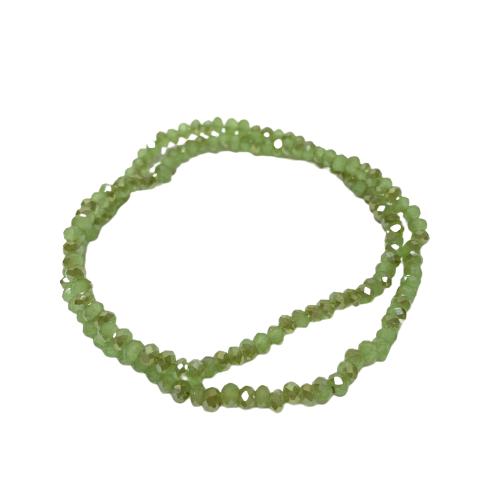 Cristal Chinês Verde Claro Lustroso