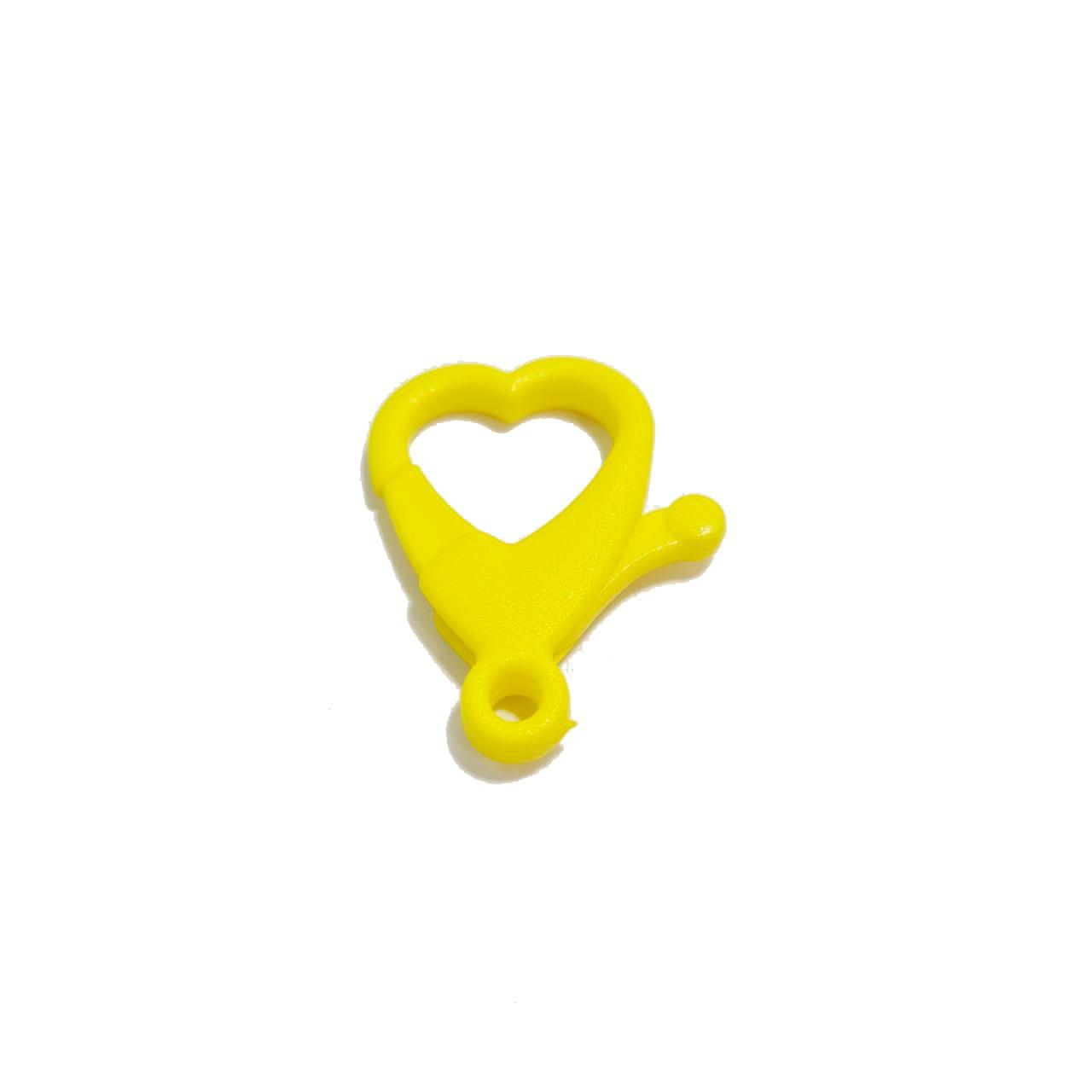 Fecho Coração Amarelo Neon