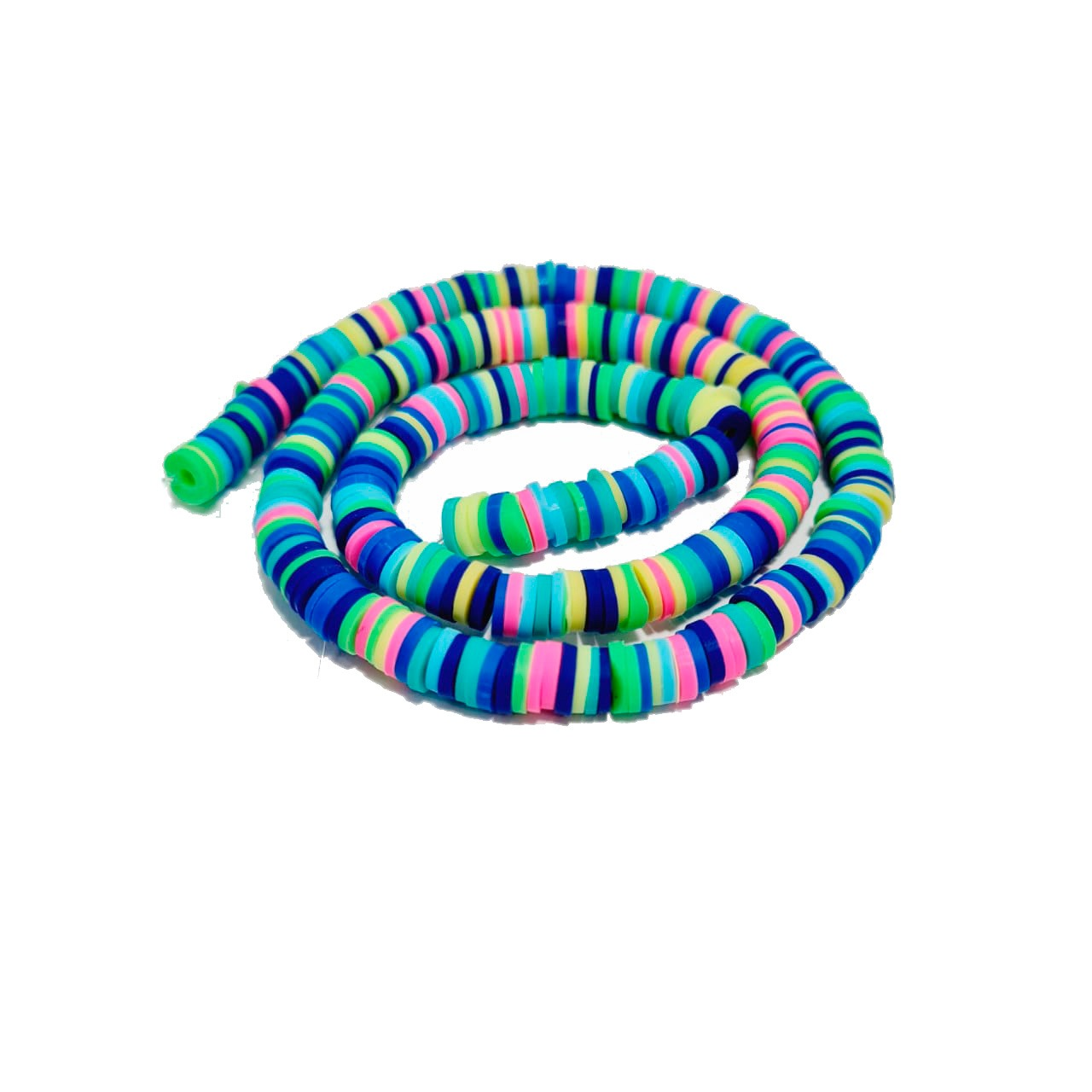 Fio de Fimo Multicor com Tons Neon, Azul , Verde. Amarelo, Pink e Roxo