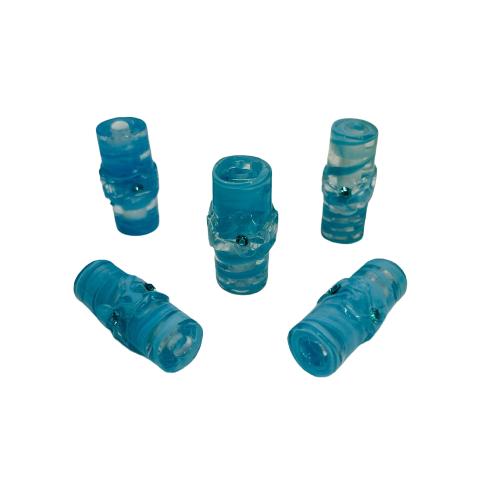 Firma de Murano GG Cristal com Azul e Strass Azul