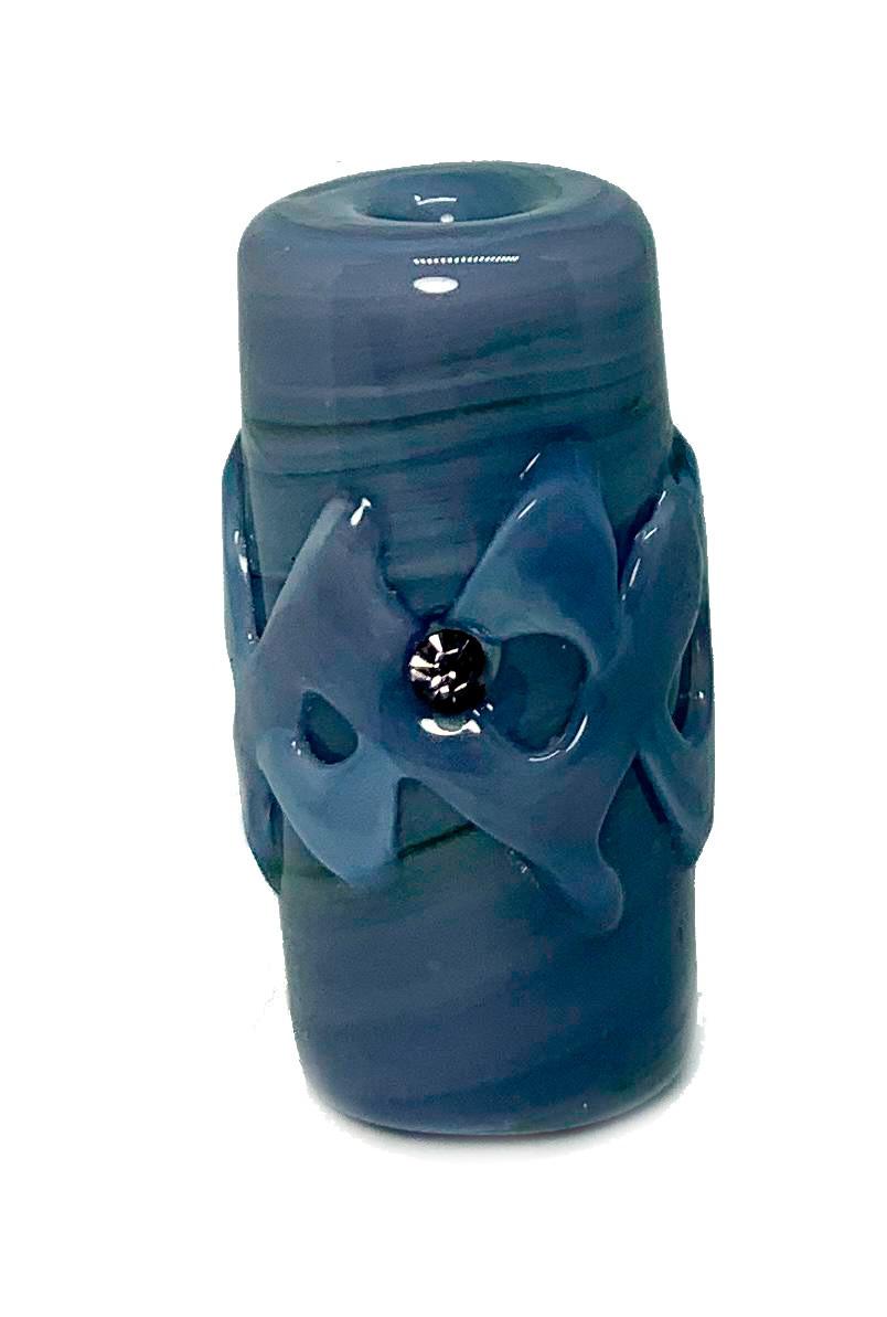 Firma de Murano GG Lilás Puro com Miolo na mesma cor e Strass Lilás