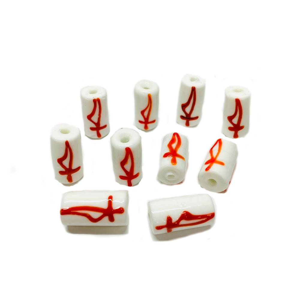 Firma M de Ogum Branca com Espada Vermelha