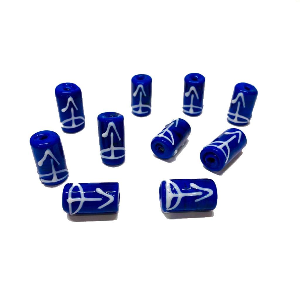 Firma M de Oxossi Akueran Azul Escuro com Ofá Branco