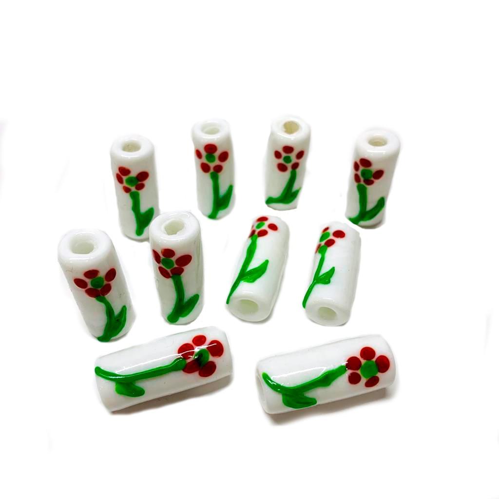 Firma M de Pomba- Gira Branca com Flor Vermelha