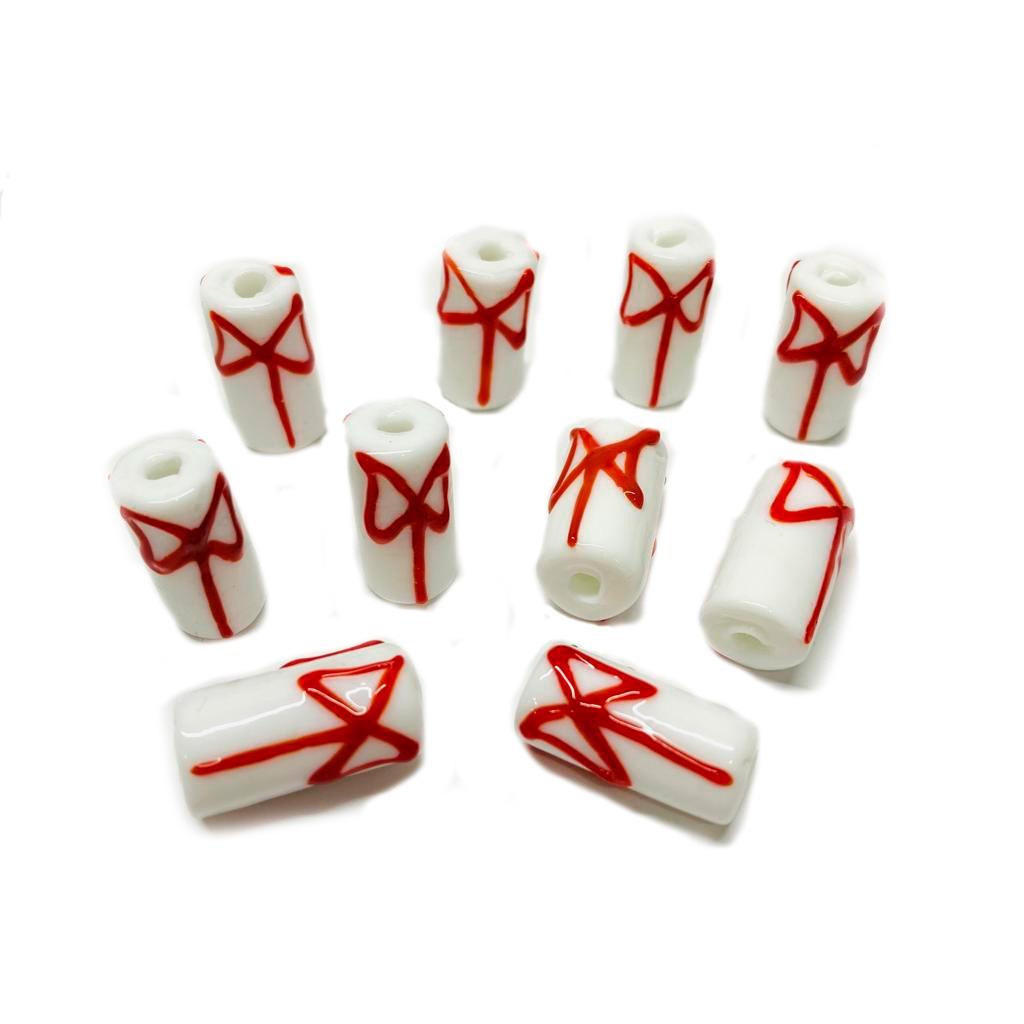 Firma M de Xangó Branco com Machado Vermelho
