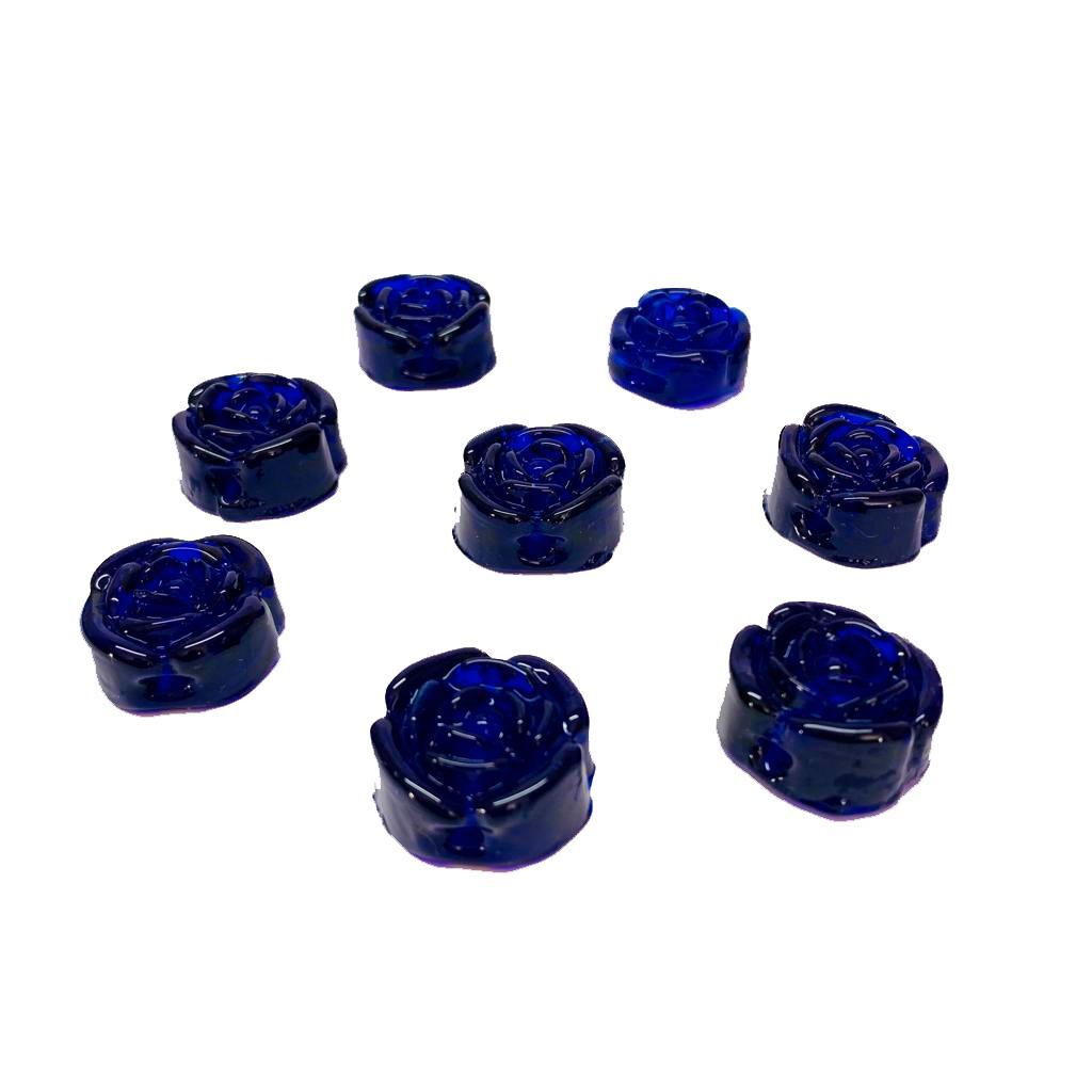 Flor de Murano em Alto Relevo Azulão