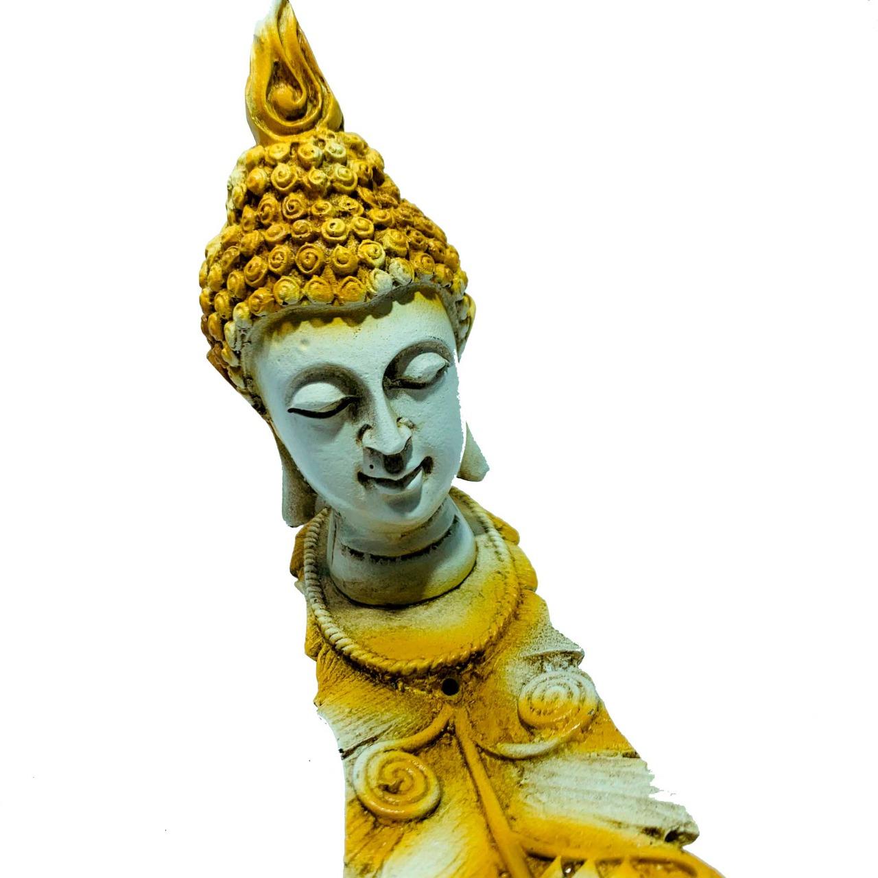 Incensário Buda Canaleta Amarelo