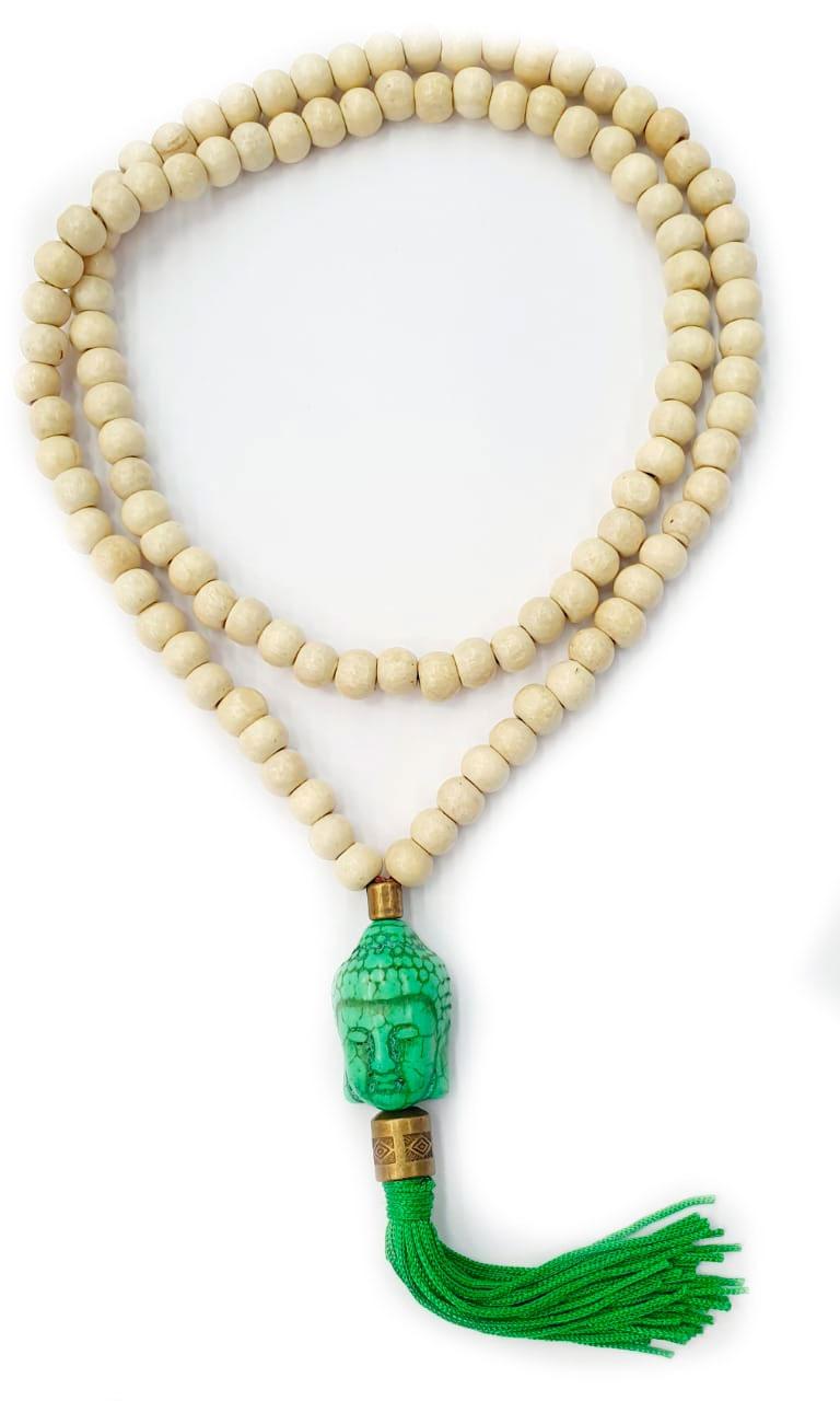 Japamala com Buda Verde