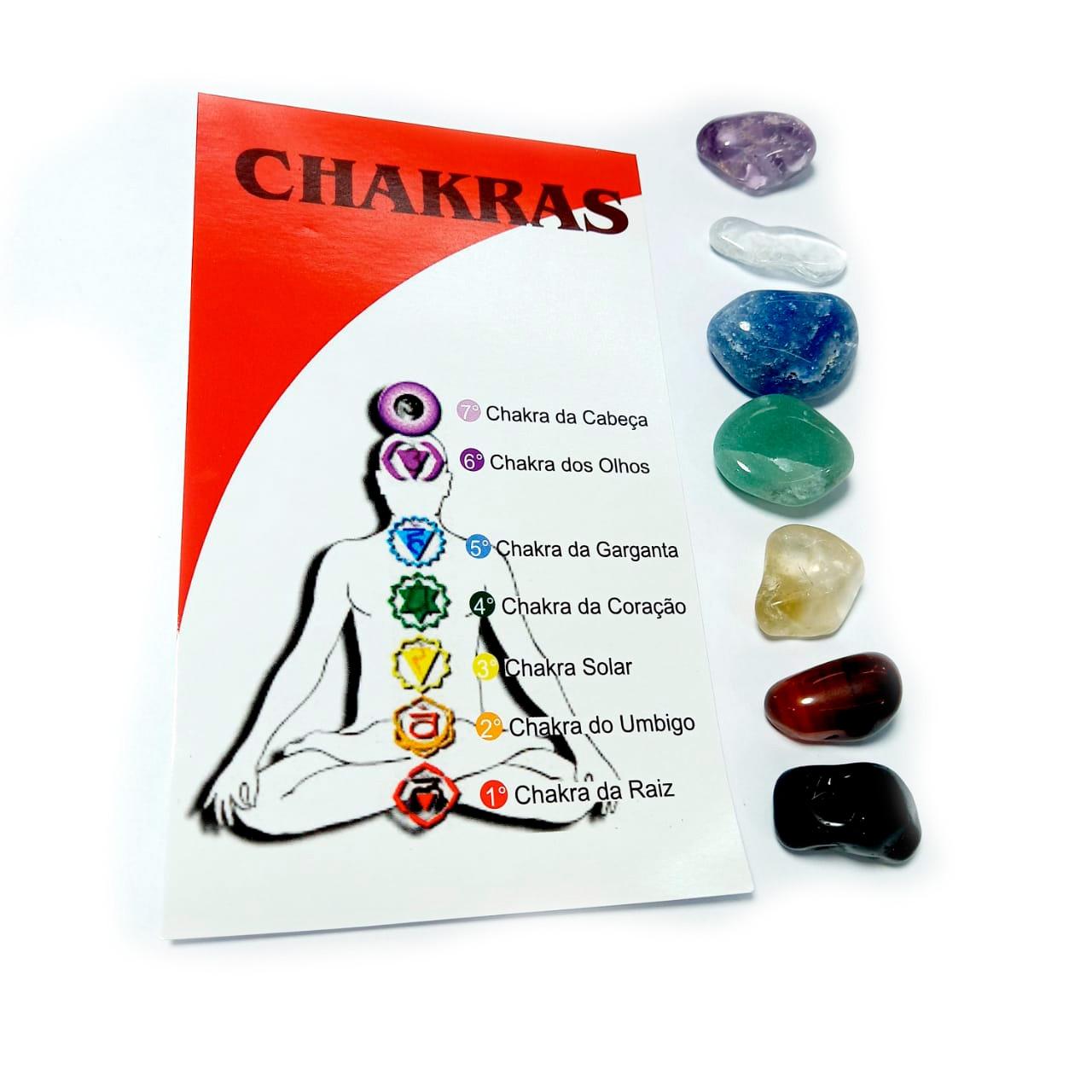 Kit de Pedras Brasileiras 7 Chackras