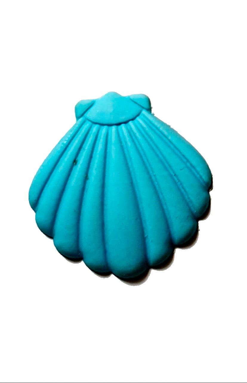Mini Concha Azul Claro Emborrachada