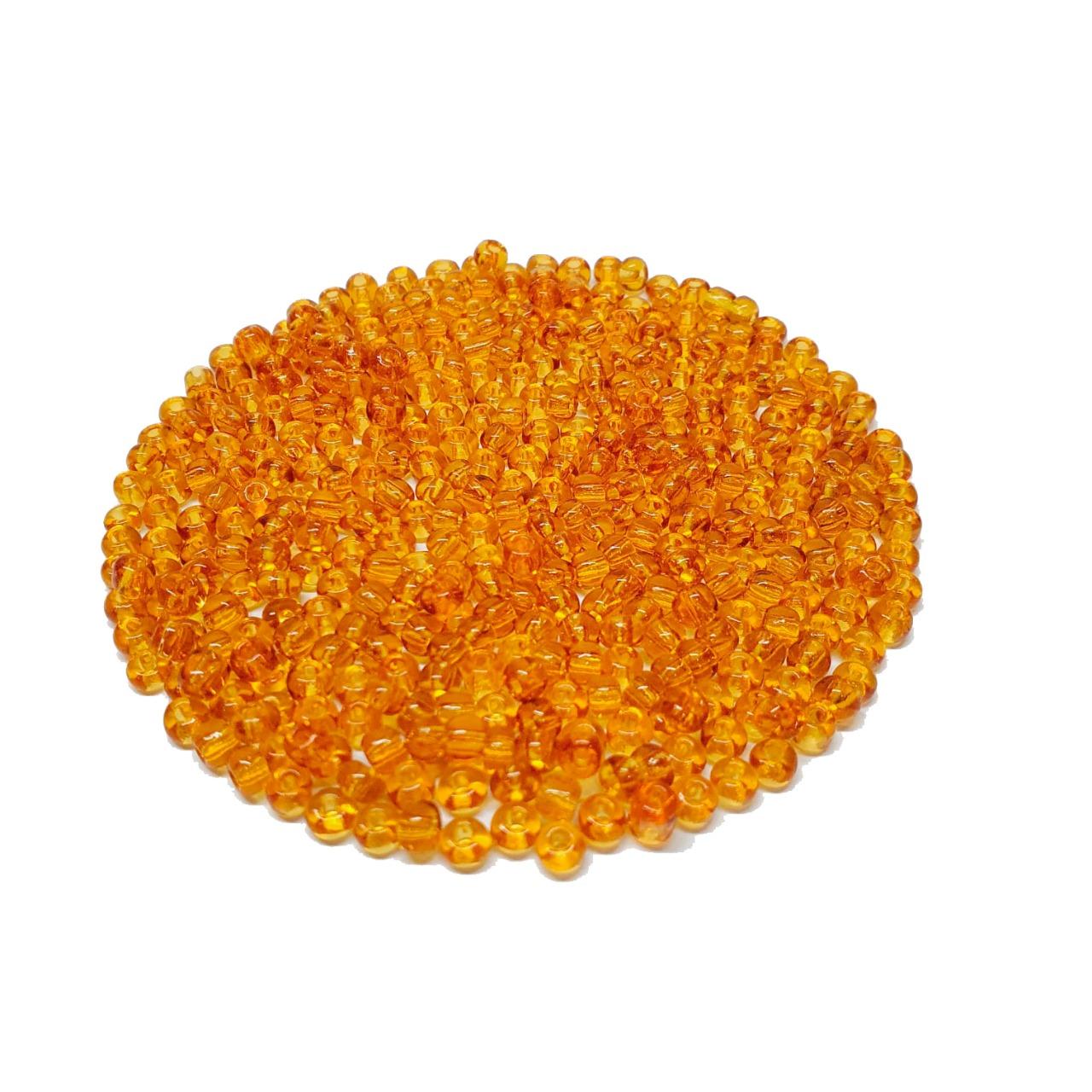 Missanga Chinesa 6/0 Ouro Transparente