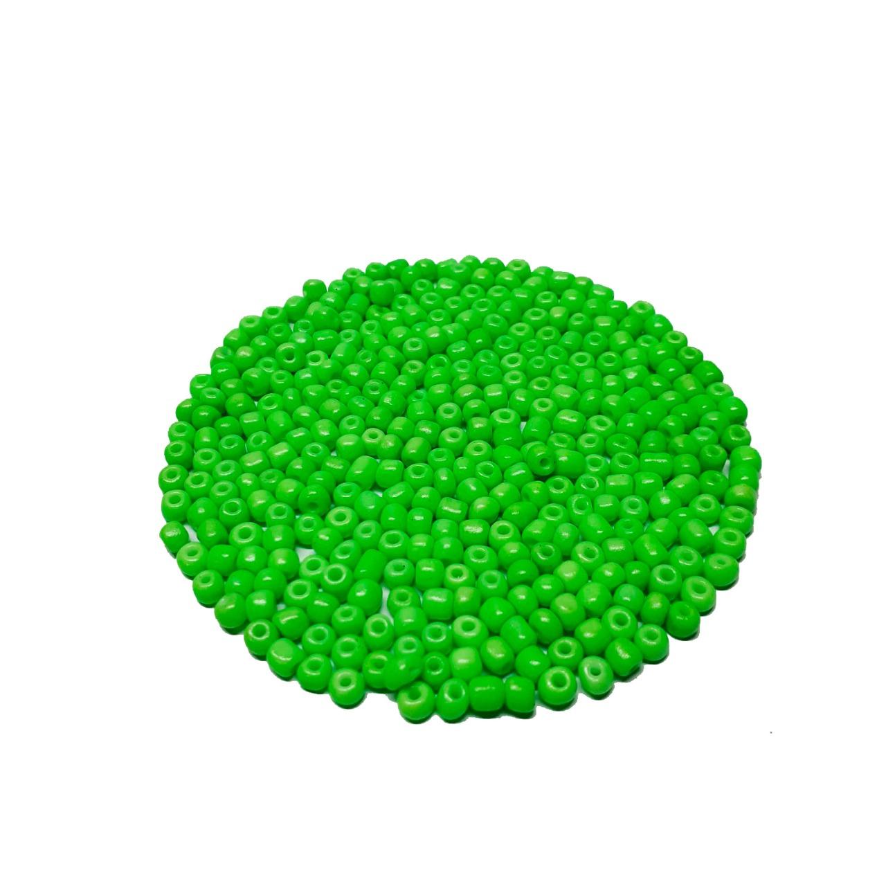 Missanga Chinesa 6/0 Verde Neon