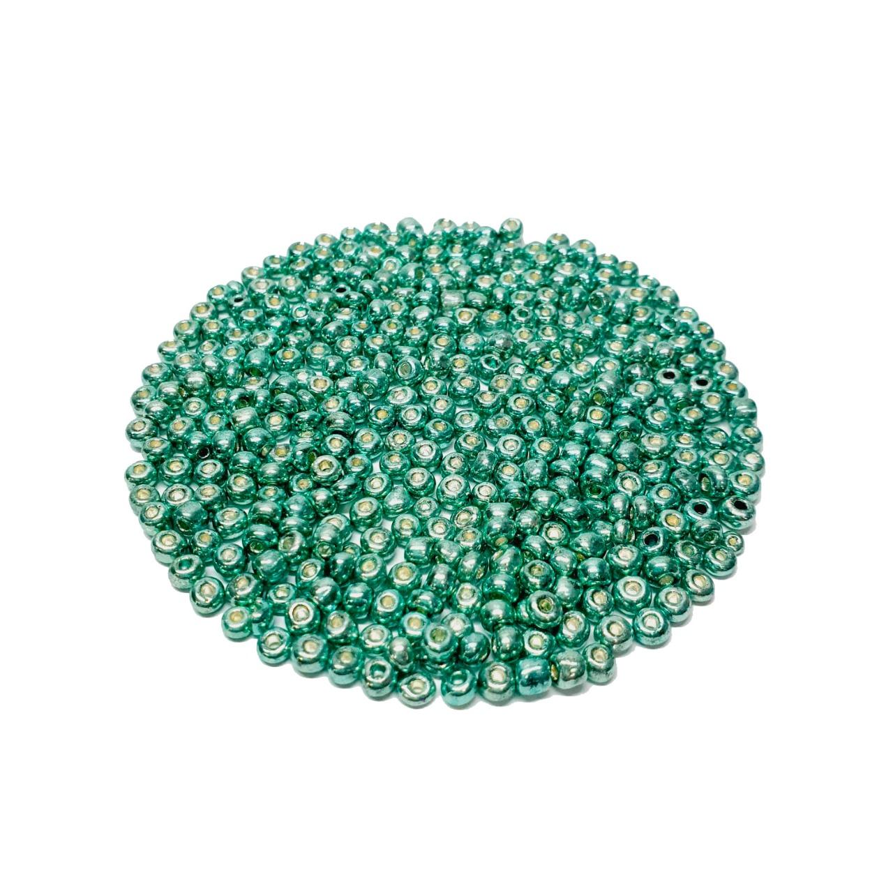 Missanga Chinesa 6/0 Verde Metalizado