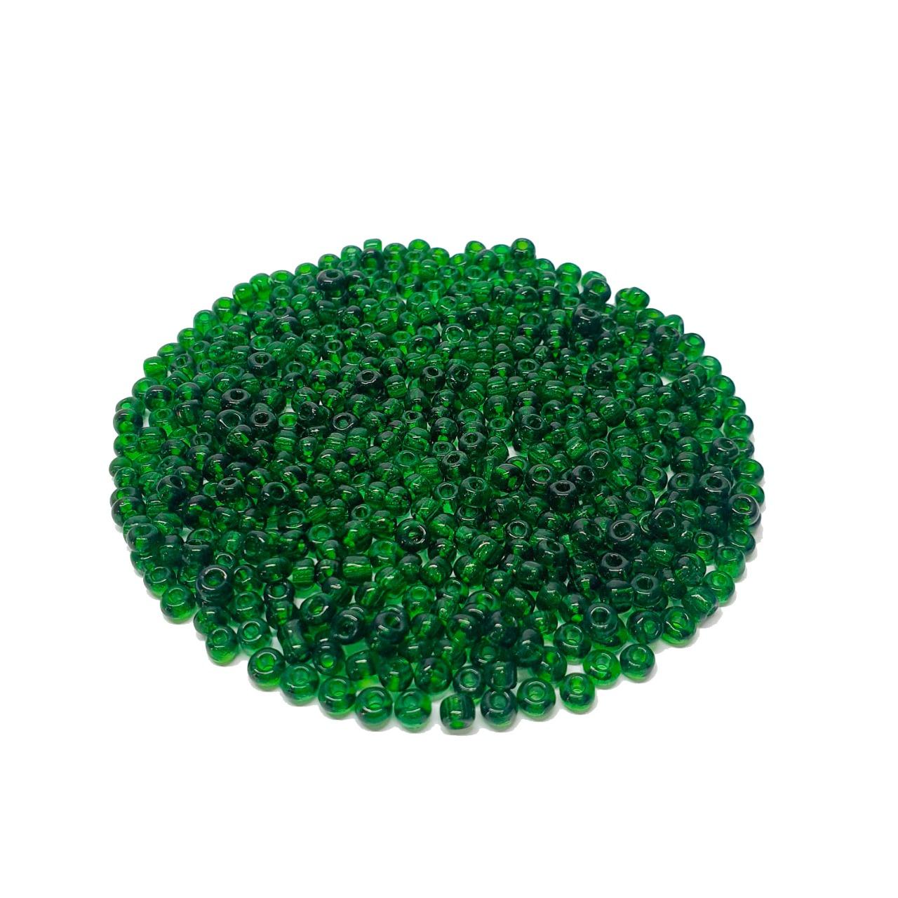Missanga Chinesa 6/0 Verde Transparente