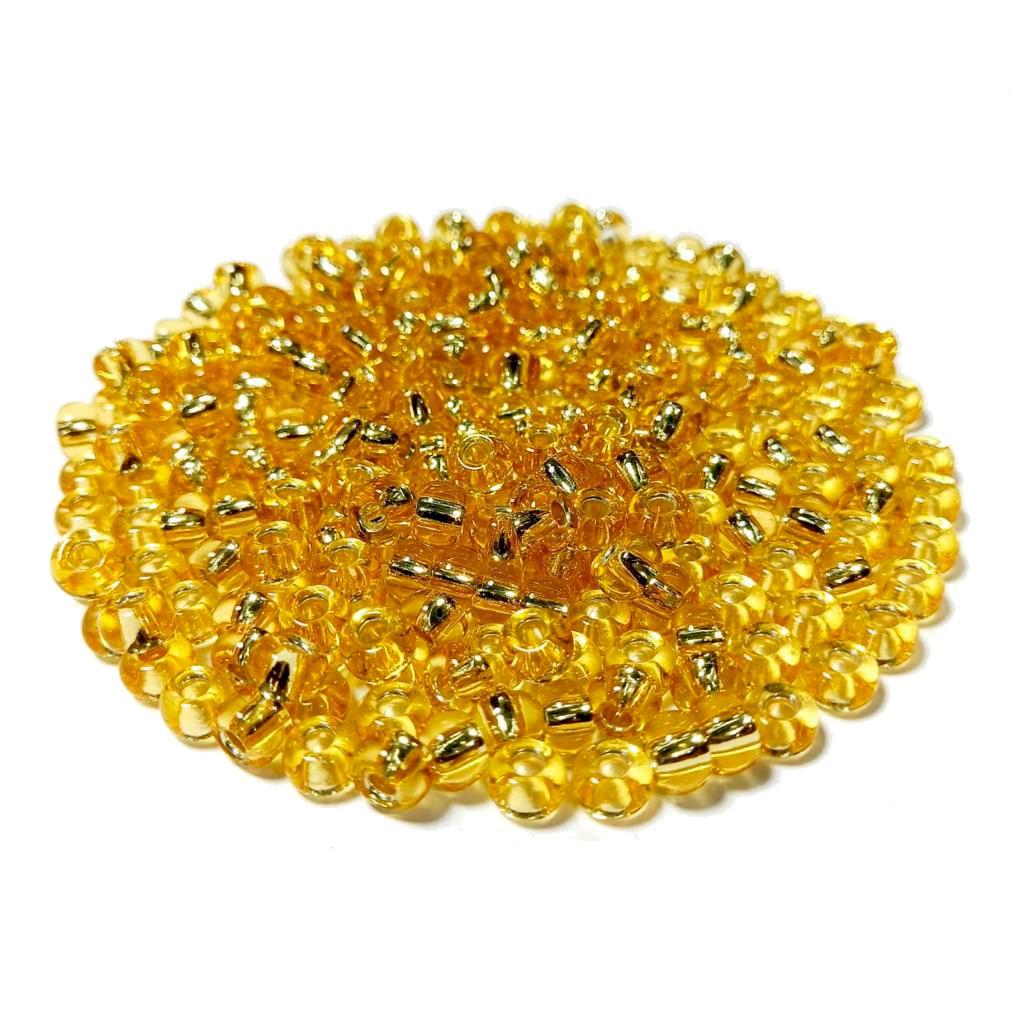 Missanga Jablonex  2/0 Ouro Novo Transparente 17020