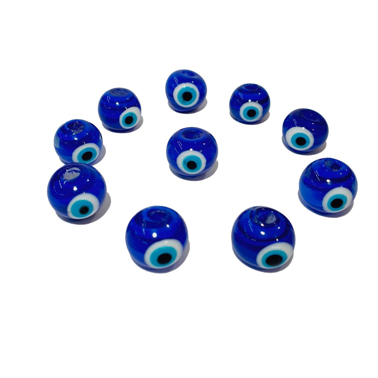 Olho Grego de Murano Bola Azul Bic