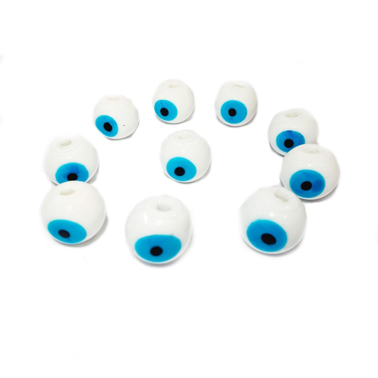 Olho Grego de Murano Bola Branco