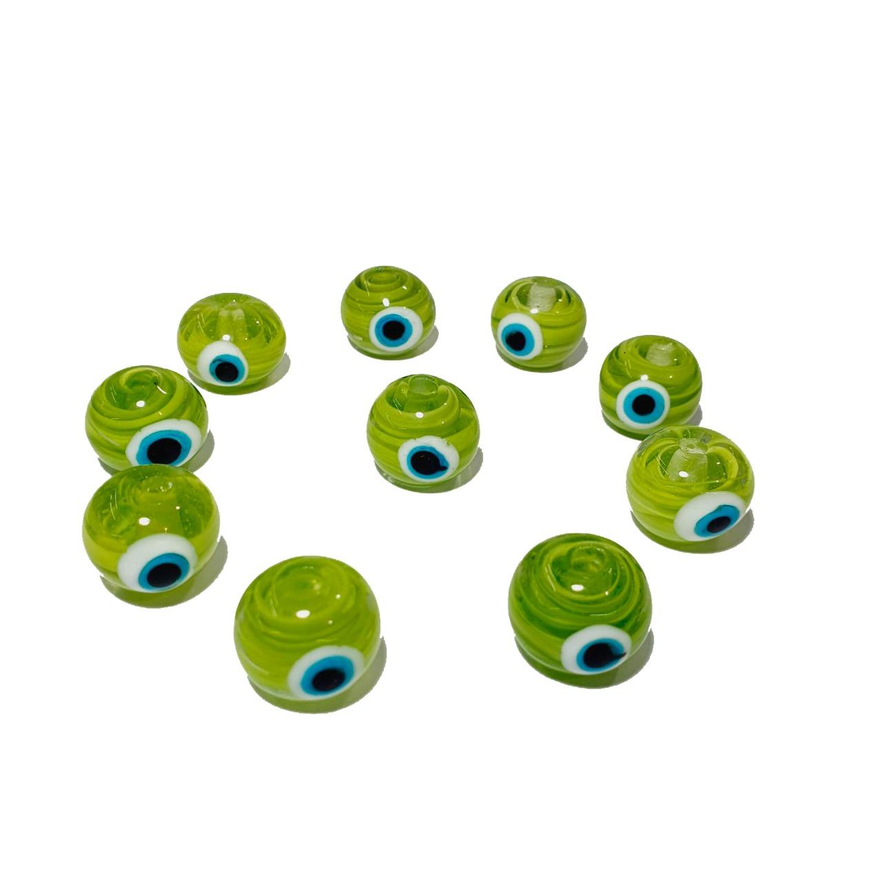 Olho Grego de Murano Bola Verde Rajado