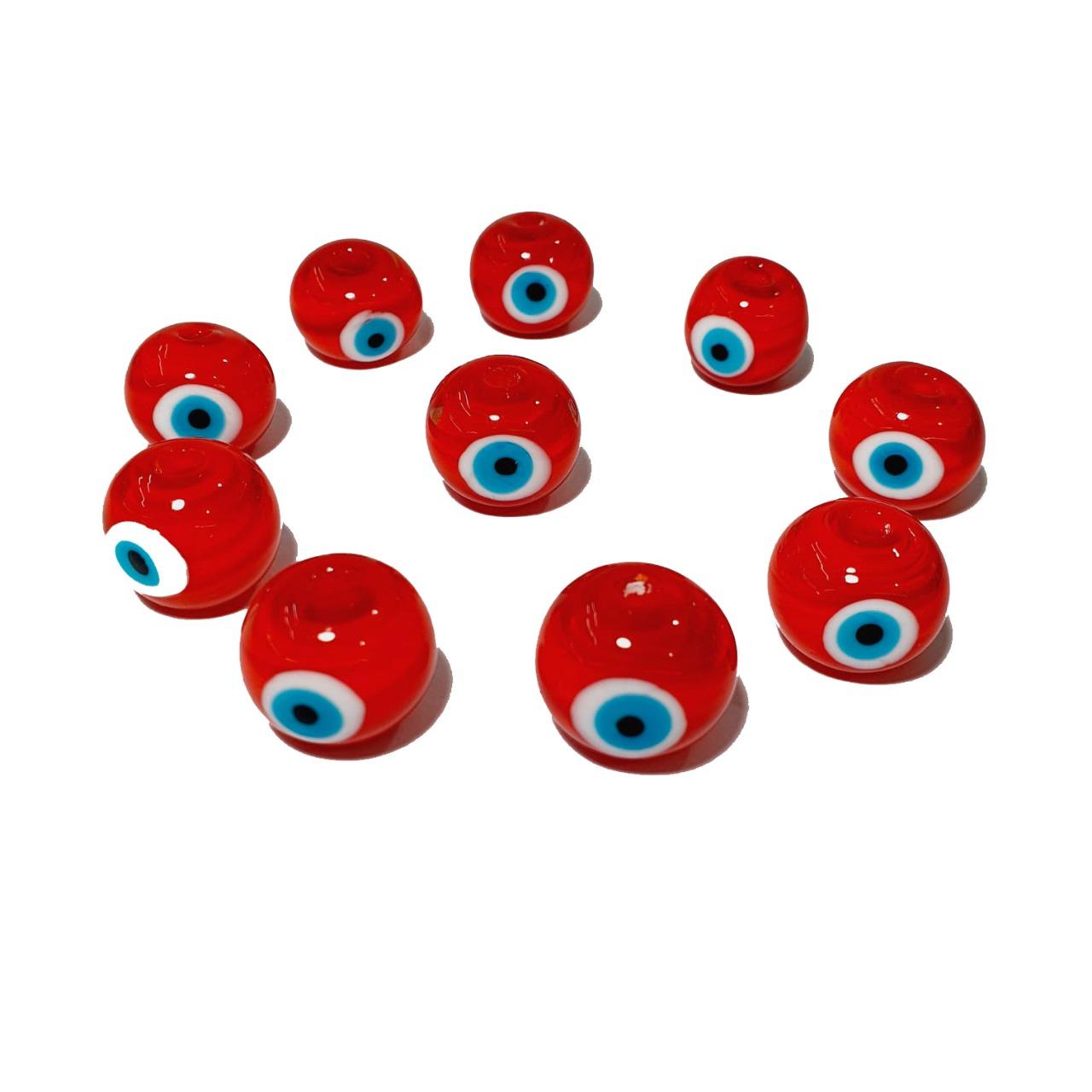 Olho Grego de Murano Bola  Vermelho
