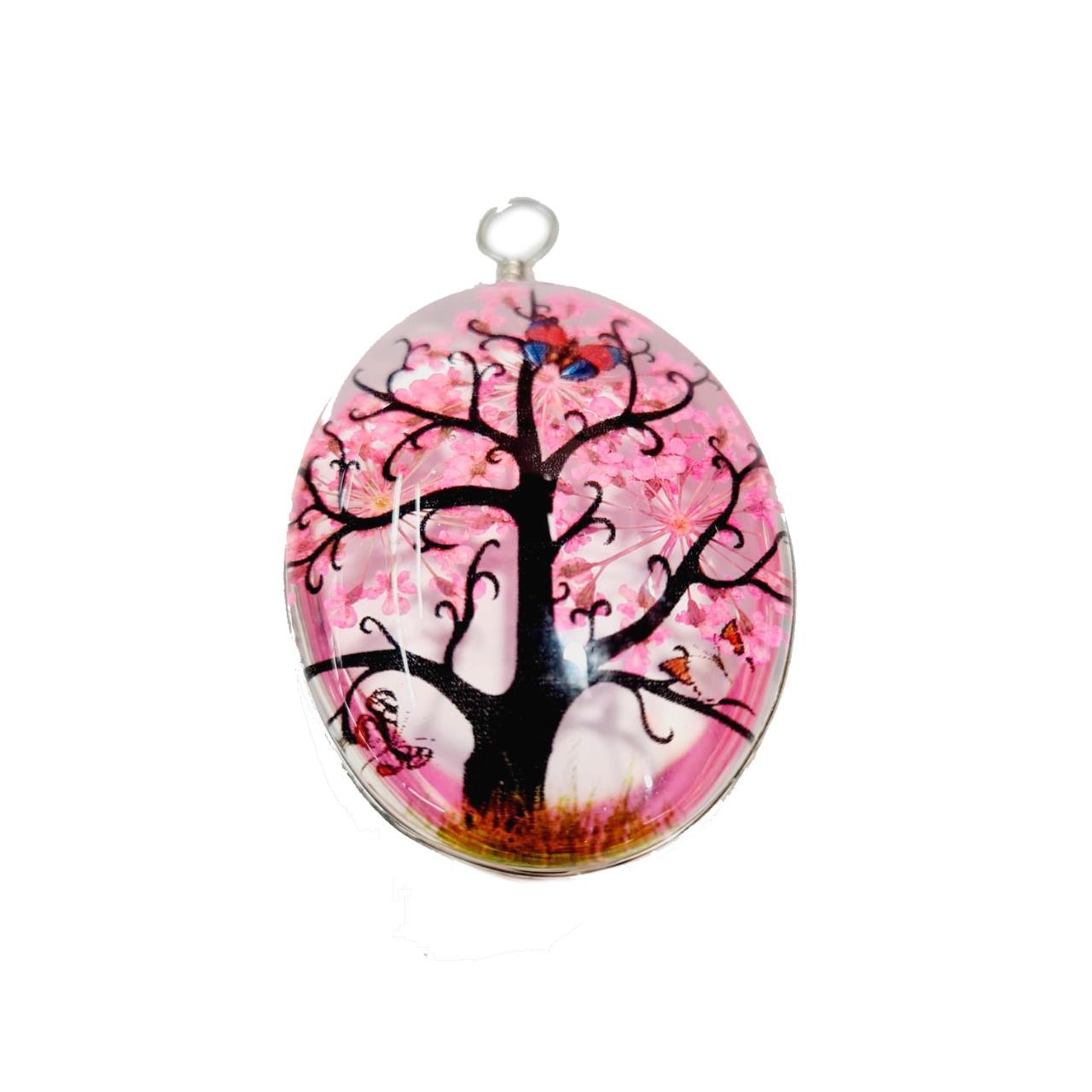 Orgonite de Árvore Oval Rosa Grande