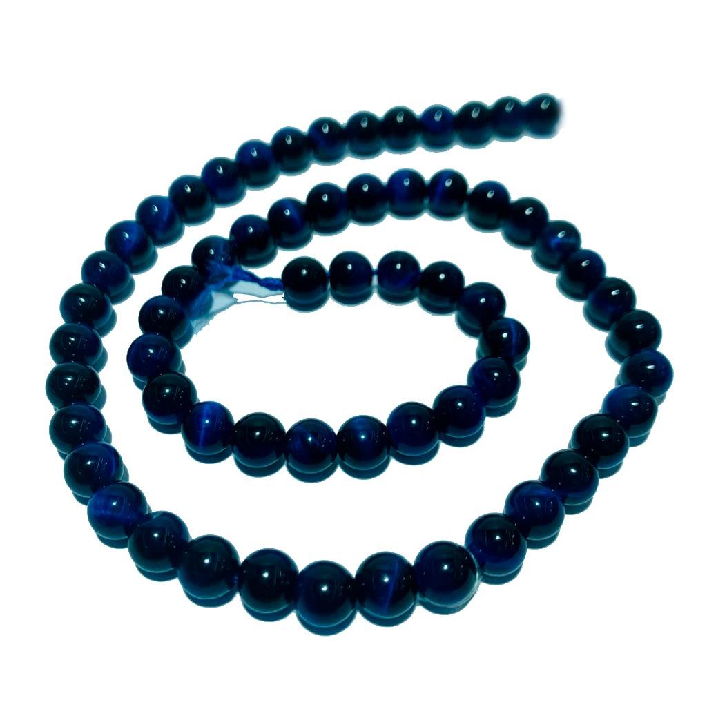 Pedra Natural Olho de Tigre  Azul Escuro