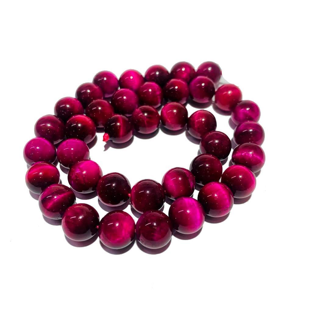 Pedra Natural Olho de Tigre Pink