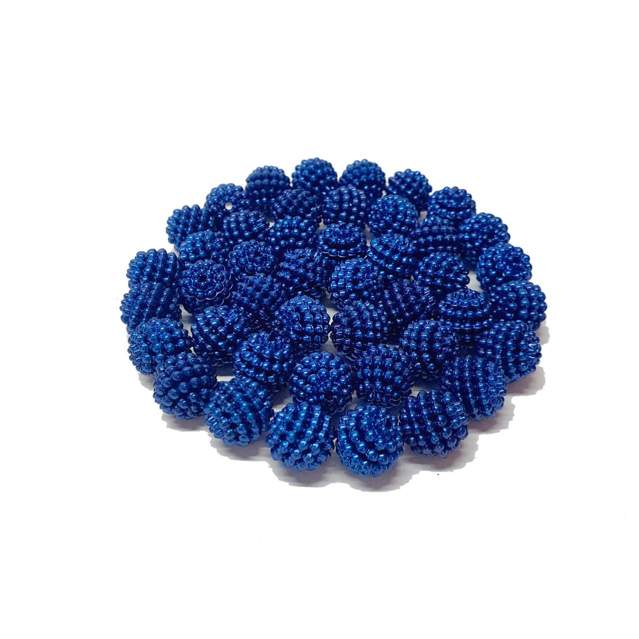 Pérola Craquelada Azul Royal