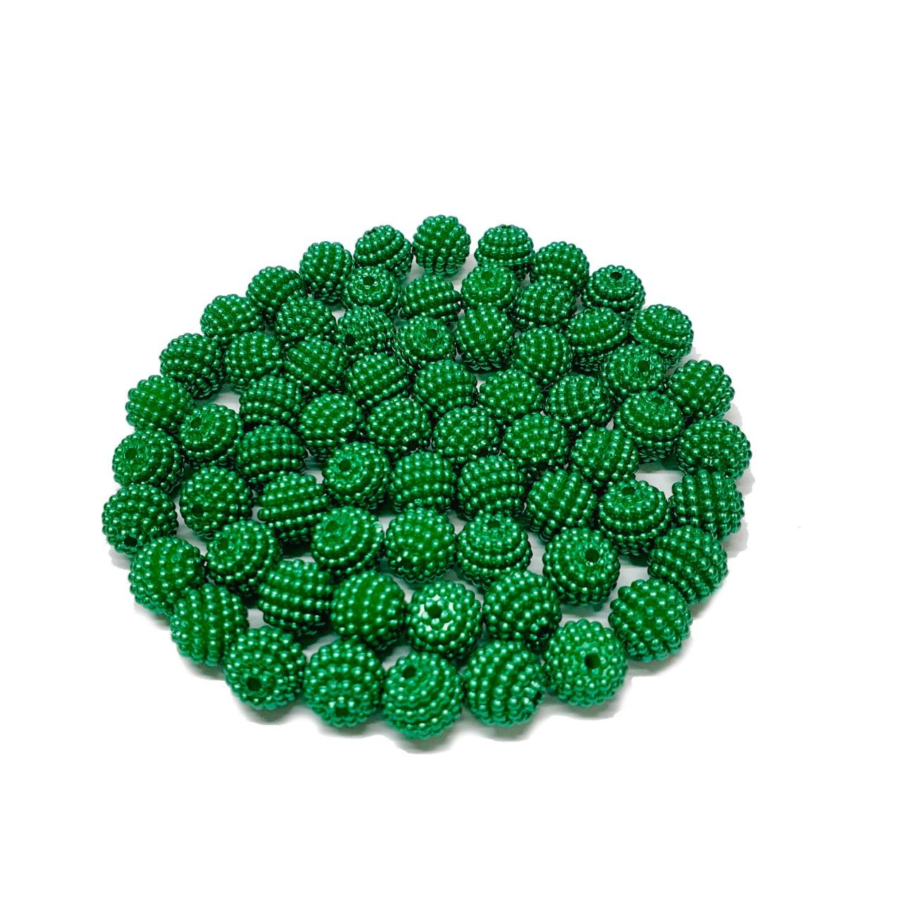 Pérola Craquelada Verde Bandeira