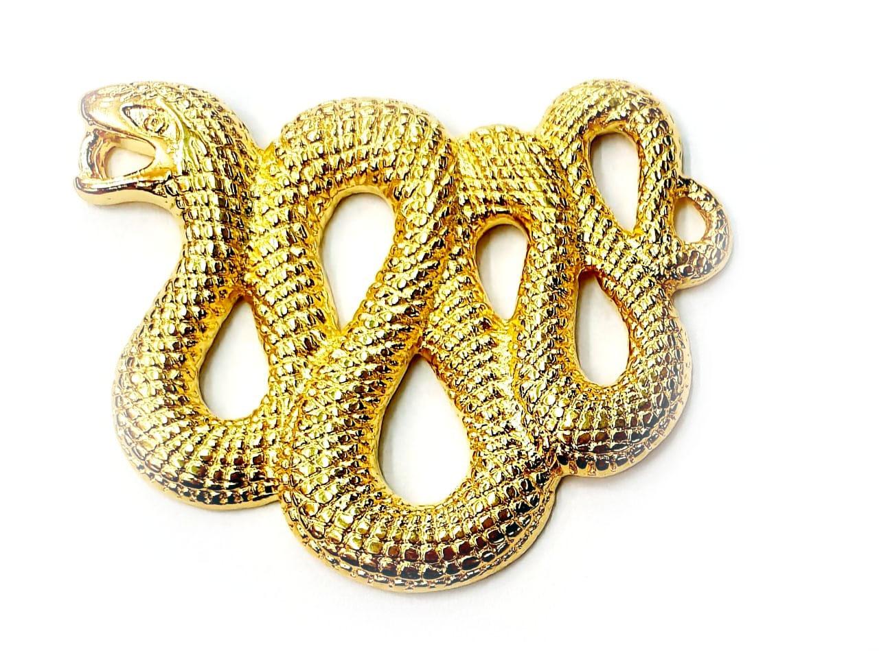 Pingente de Cobra Trançada