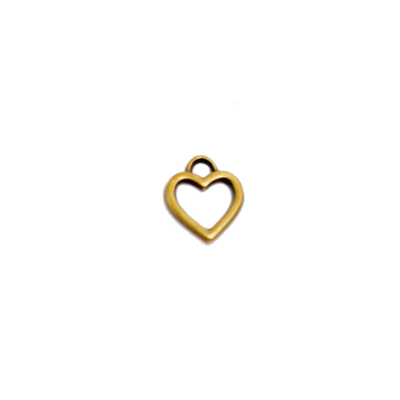 Pingente de Coração Vazado Mini