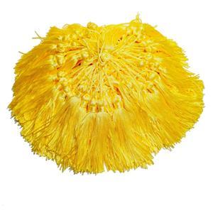 Pingente de Seda - Tassel Amarelo/ Fluorescente/ Gema