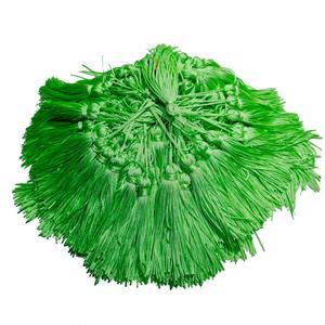 Pingente de Seda - Tassel Sete tons de Verde