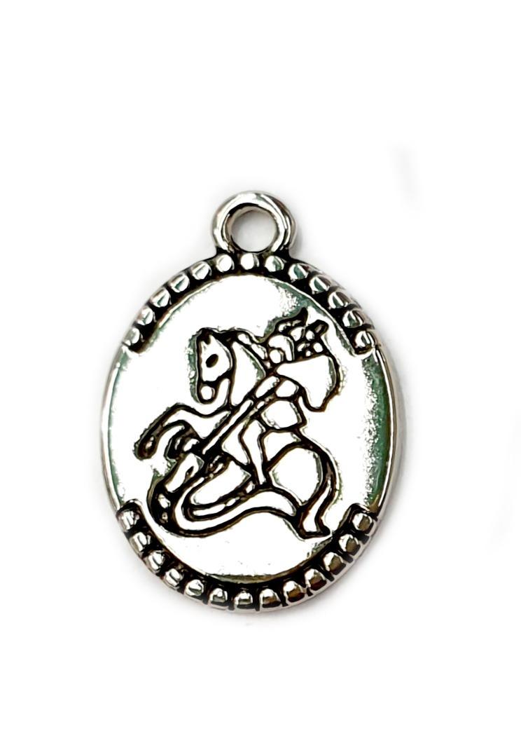 Pingente Medalha Oval de São Jorge