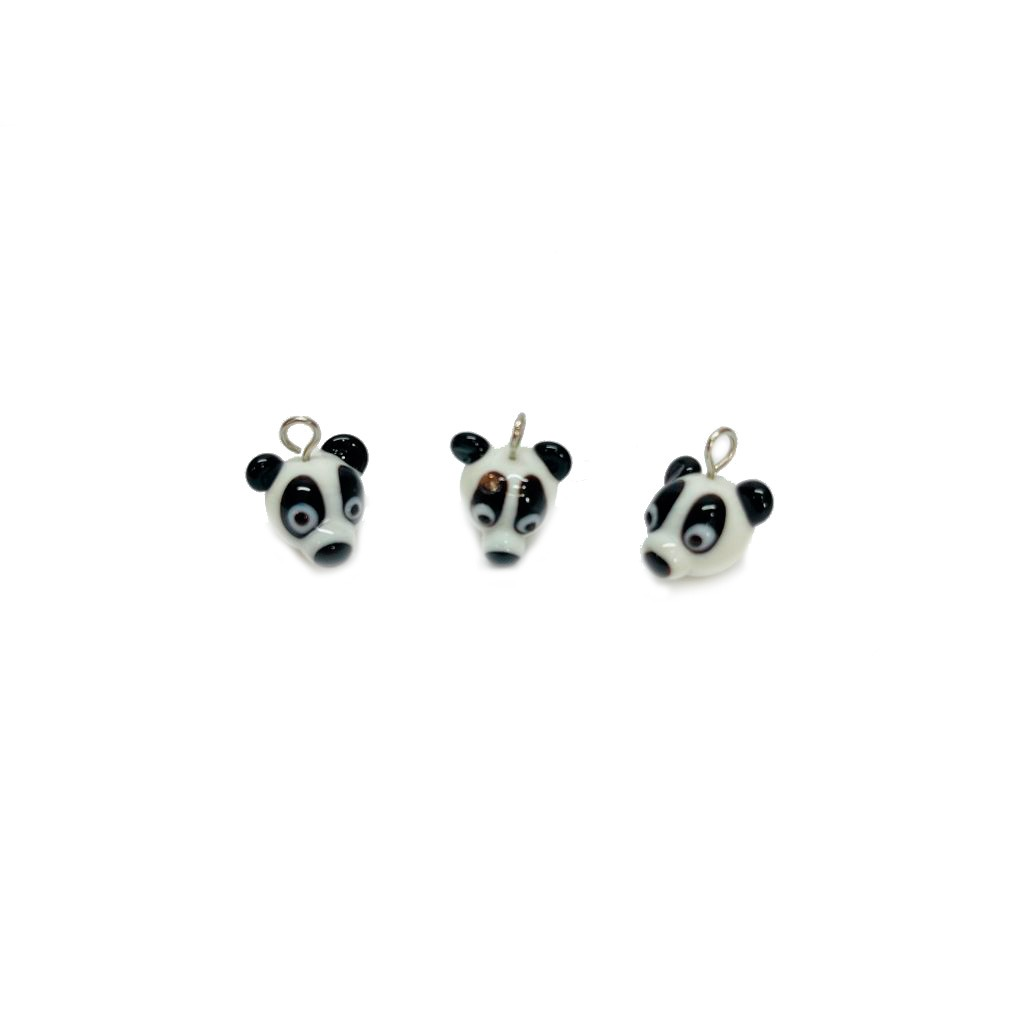 Pingente Panda de Murano