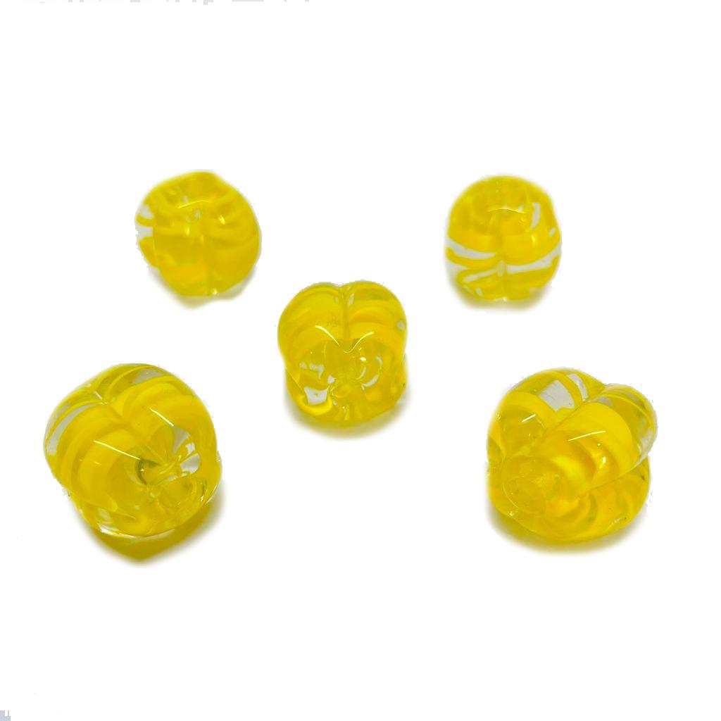 Pitanga de Murano GG Tranparente com Amarelo