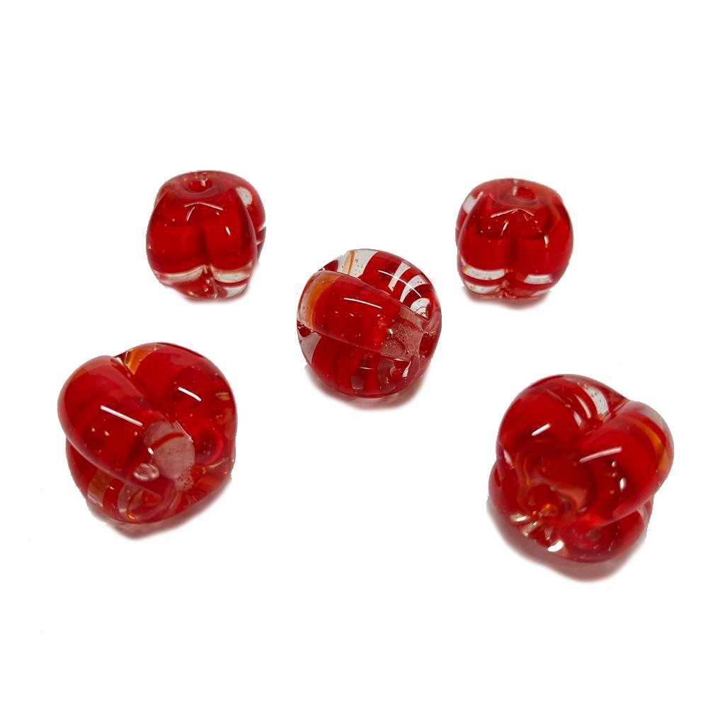Pitanga de Murano GG  Vermelho Transparente